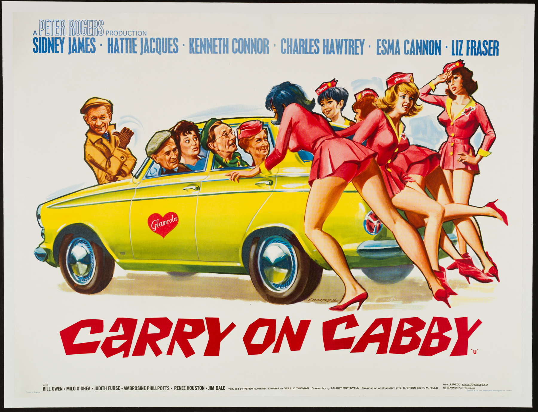 CARRY ON CABBY UK Quad poster | Picture Palace Movie Posters