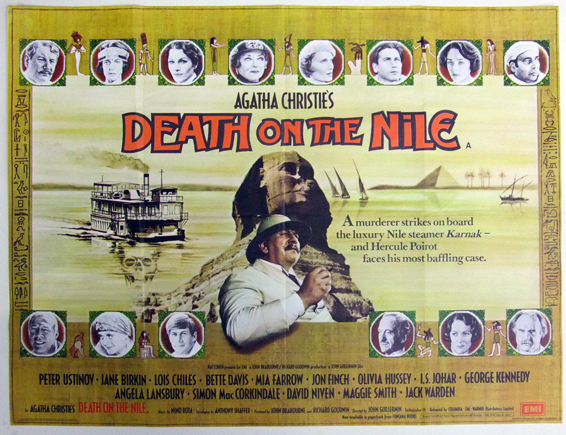 DEATH ON THE NILE UK Quad poster | Picture Palace Movie Posters