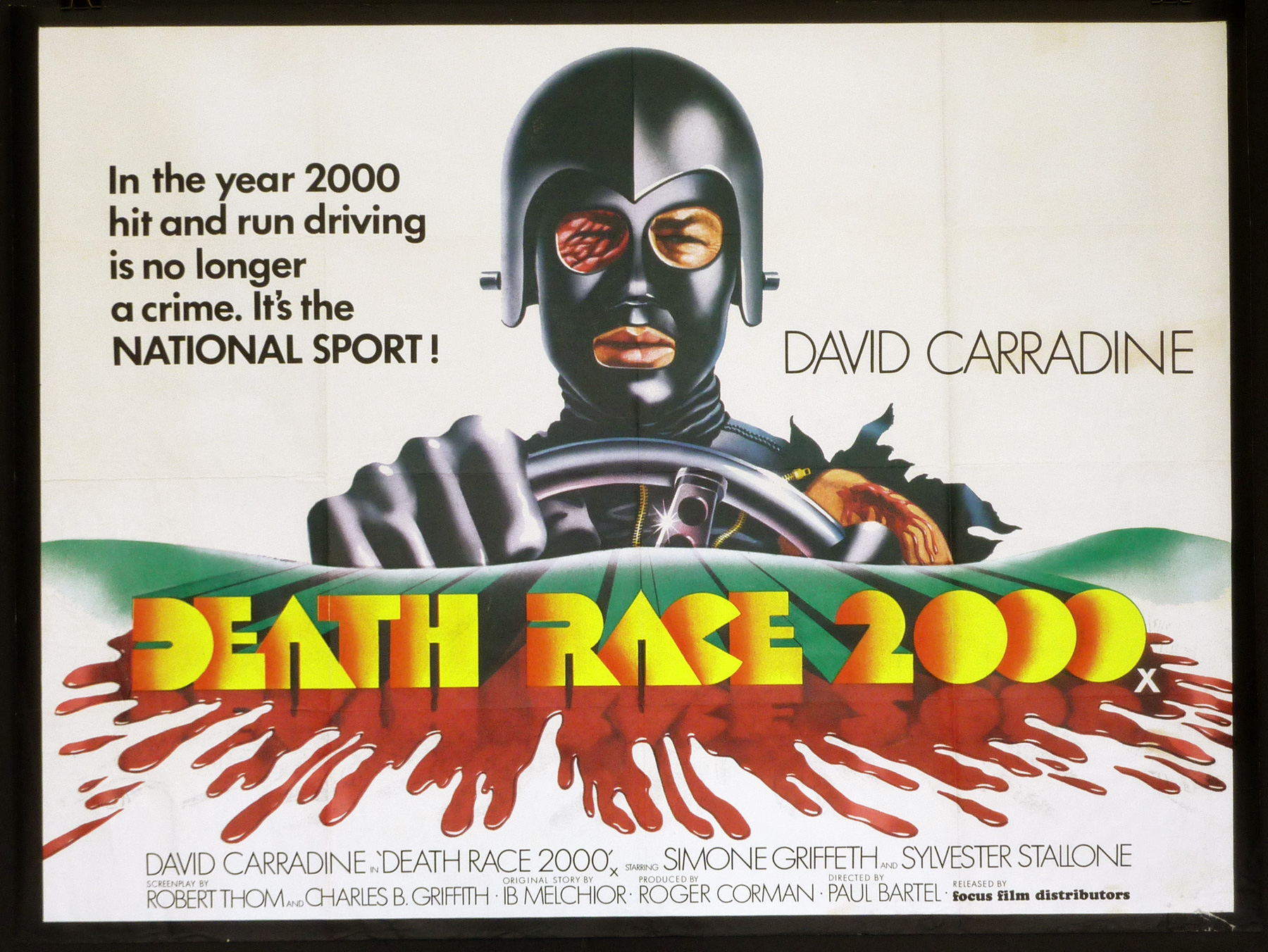 Movie Posters 2000: DEATH RACE 2000 UK Quad Poster