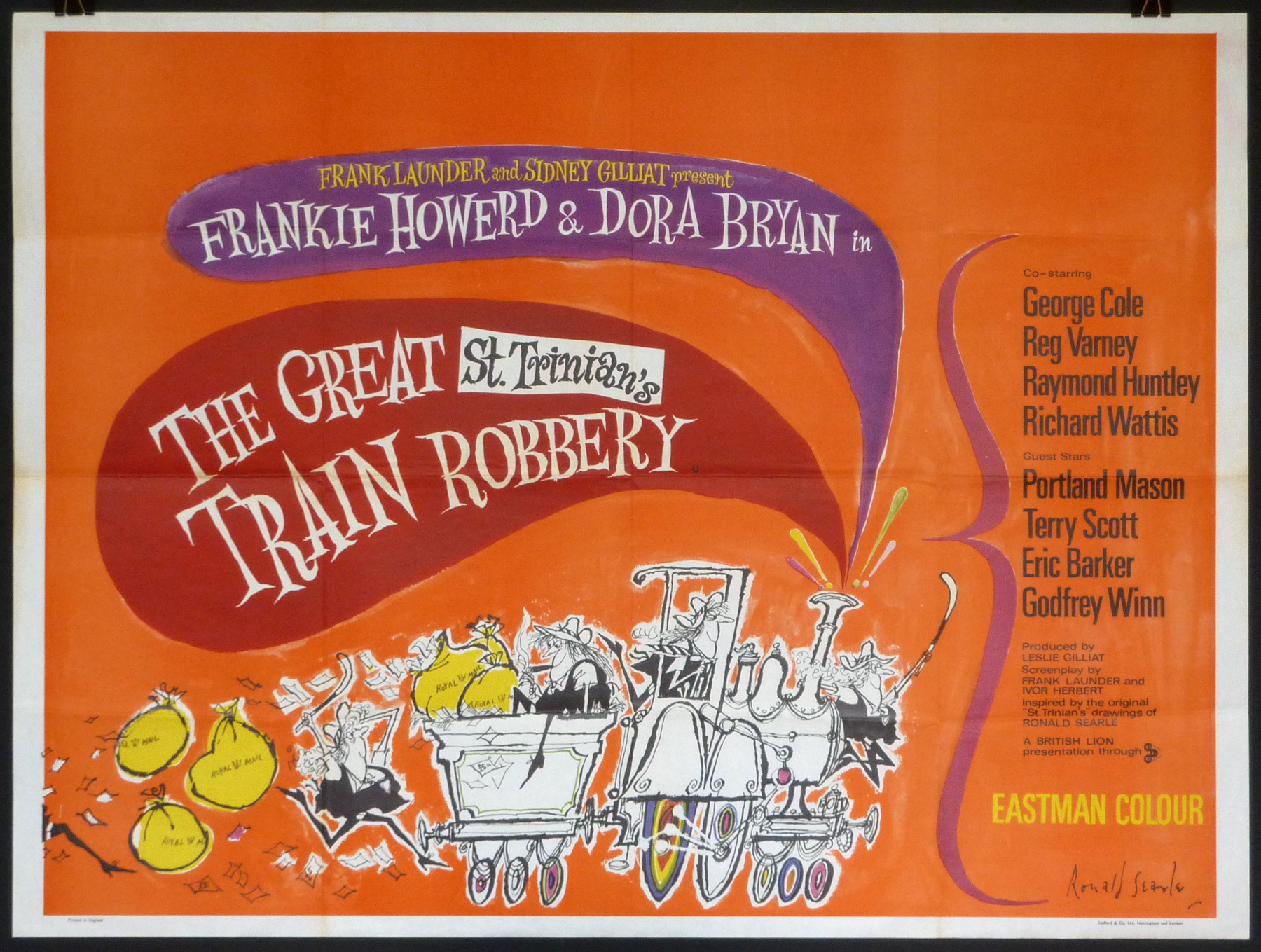 THE GREAT ST TRINIAN'S TRAIN ROBBERY UK Quad poster | Picture ...