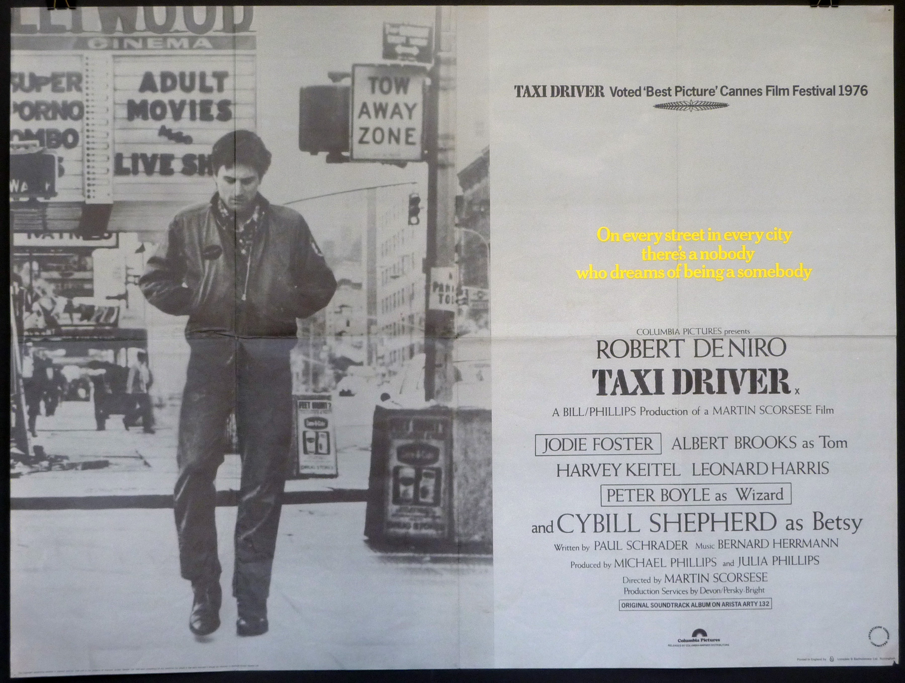 TAXI DRIVER UK Quad poster | Picture Palace Movie Posters