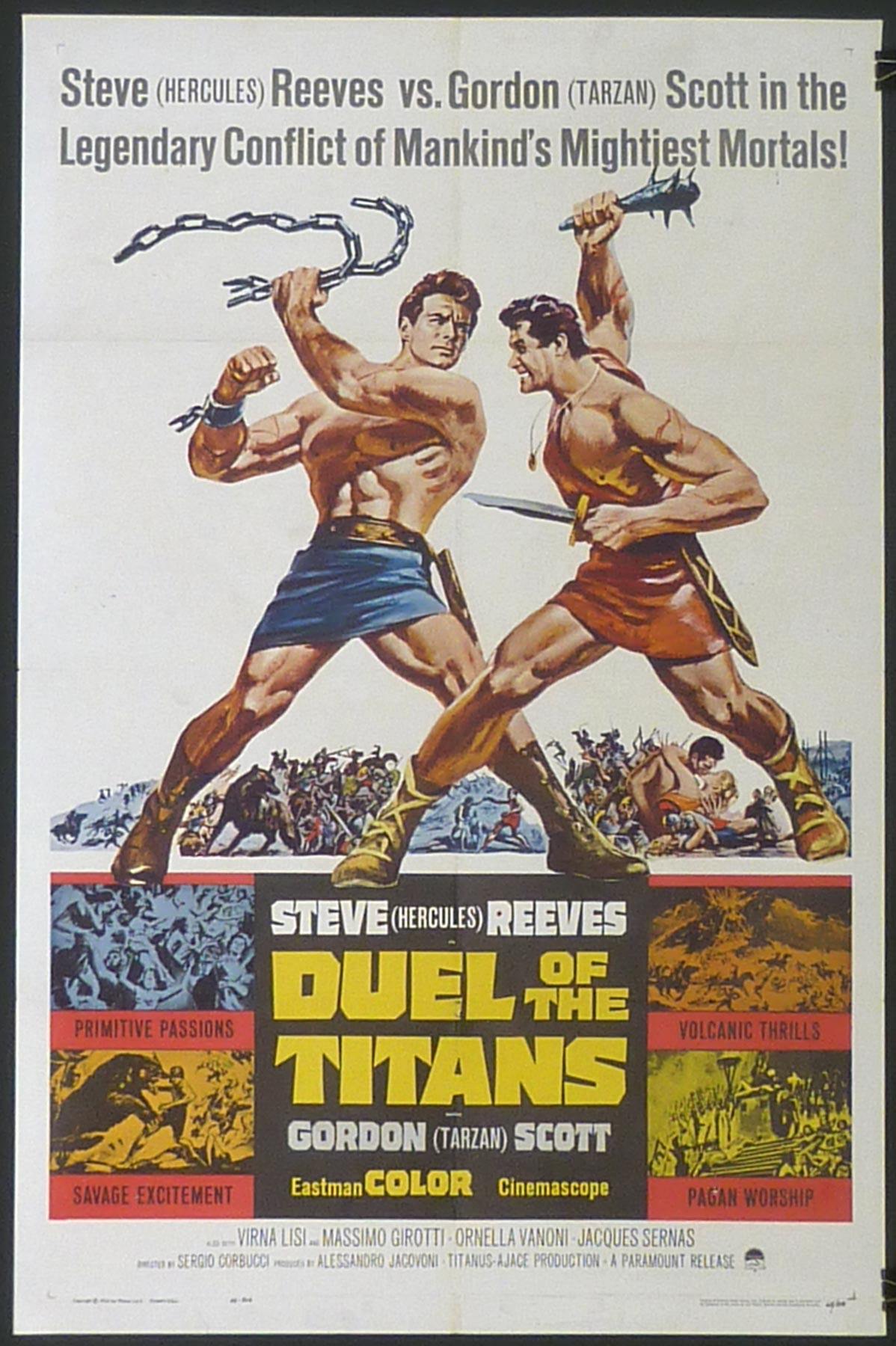 DUEL OF THE TITANS US One Sheet poster | Picture Palace ...