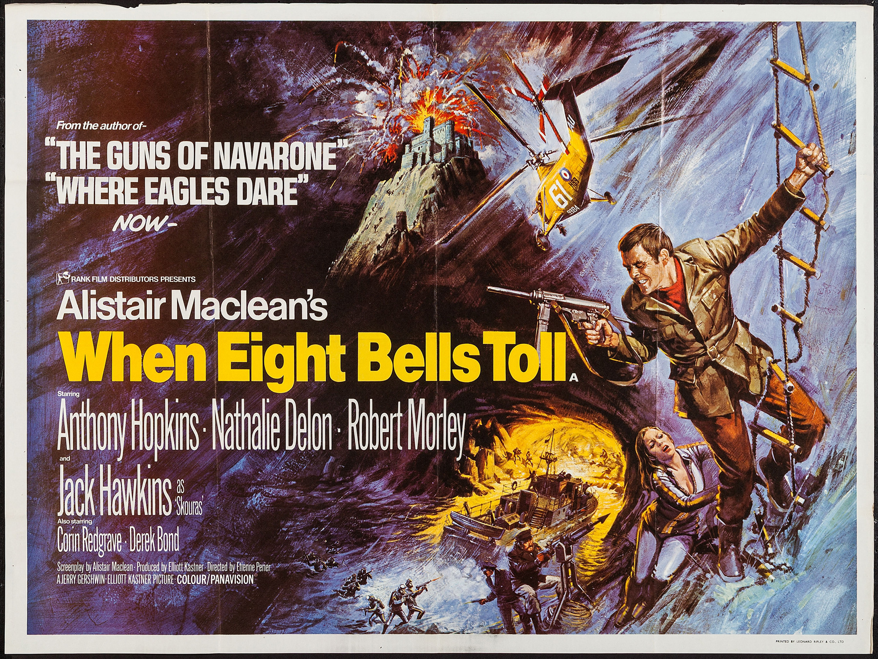WHEN EIGHT BELLS TOLL UK Quad poster | Picture Palace Movie Posters