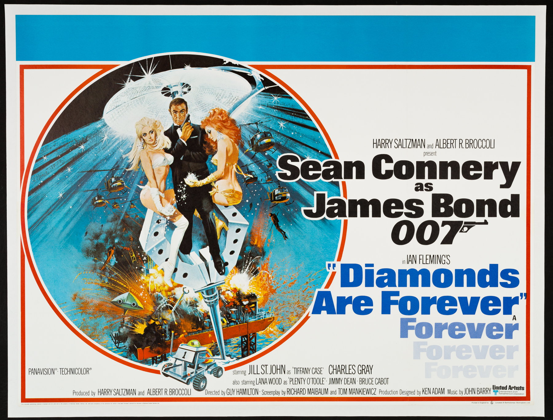 DIAMONDS ARE FOREVER UK Quad poster | Picture Palace Movie Posters