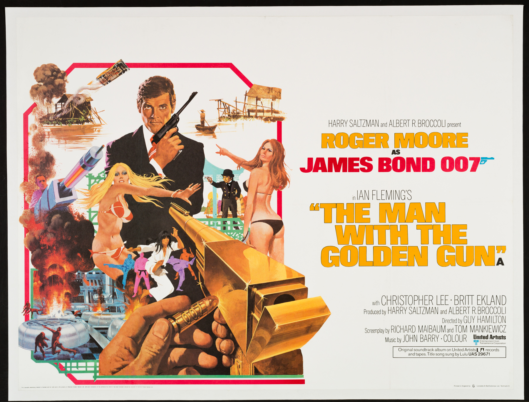THE MAN WITH THE GOLDEN GUN UK Quad poster | Picture Palace Movie ...