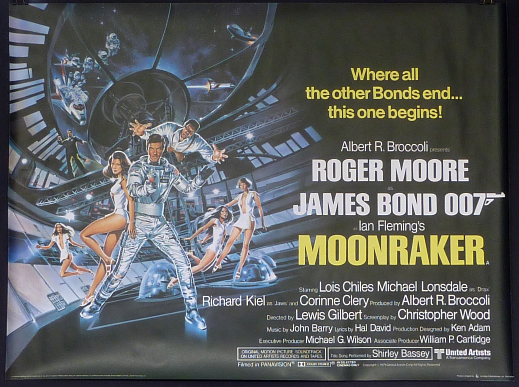MOONRAKER UK Quad poster | Picture Palace Movie Posters