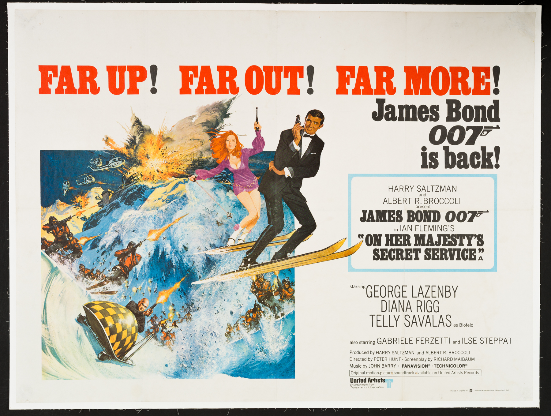 ON HER MAJESTY'S SECRET SERVICE UK Quad poster | Picture Palace ...