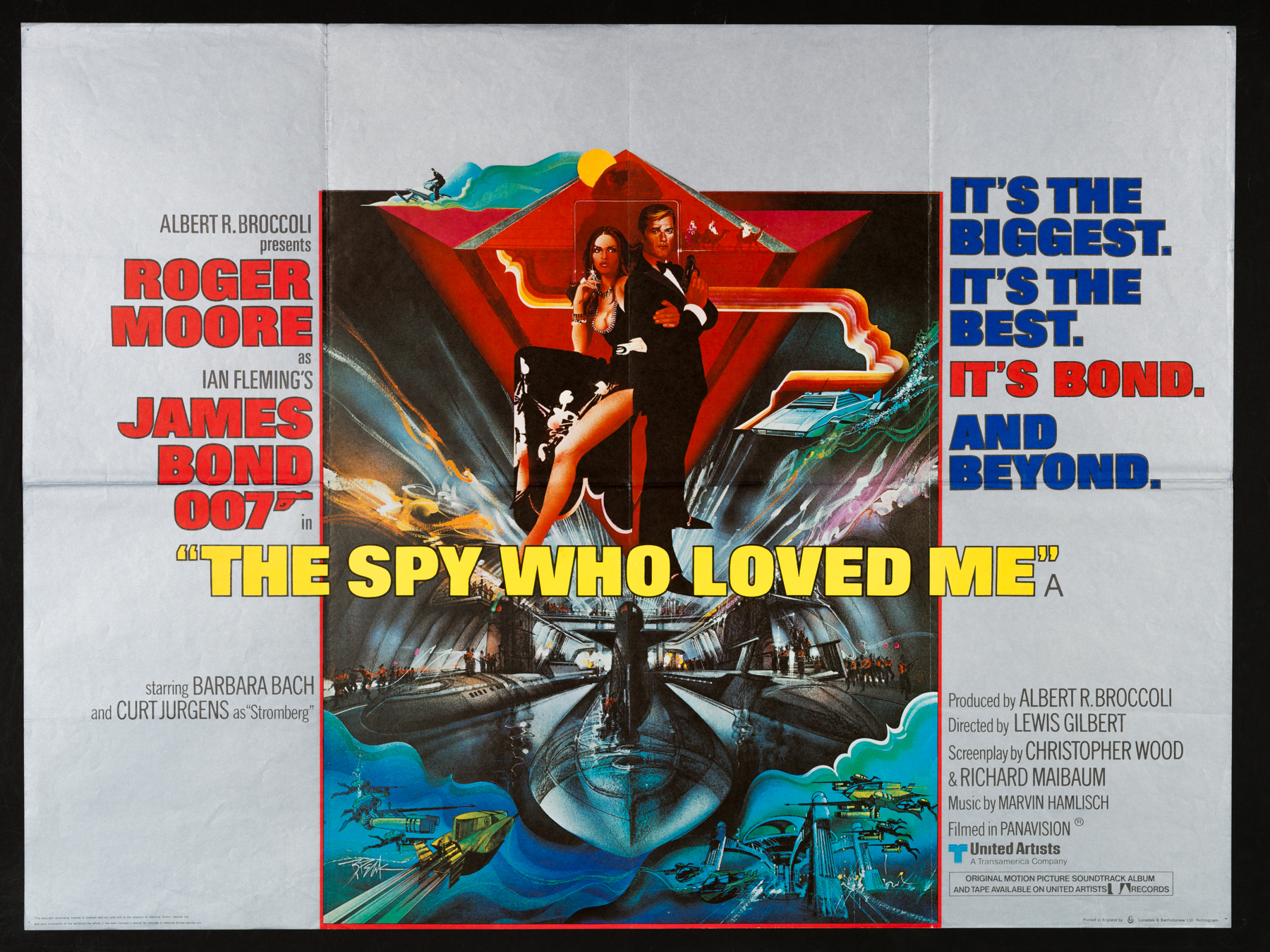 THE SPY WHO LOVED ME UK Quad poster | Picture Palace Movie Posters
