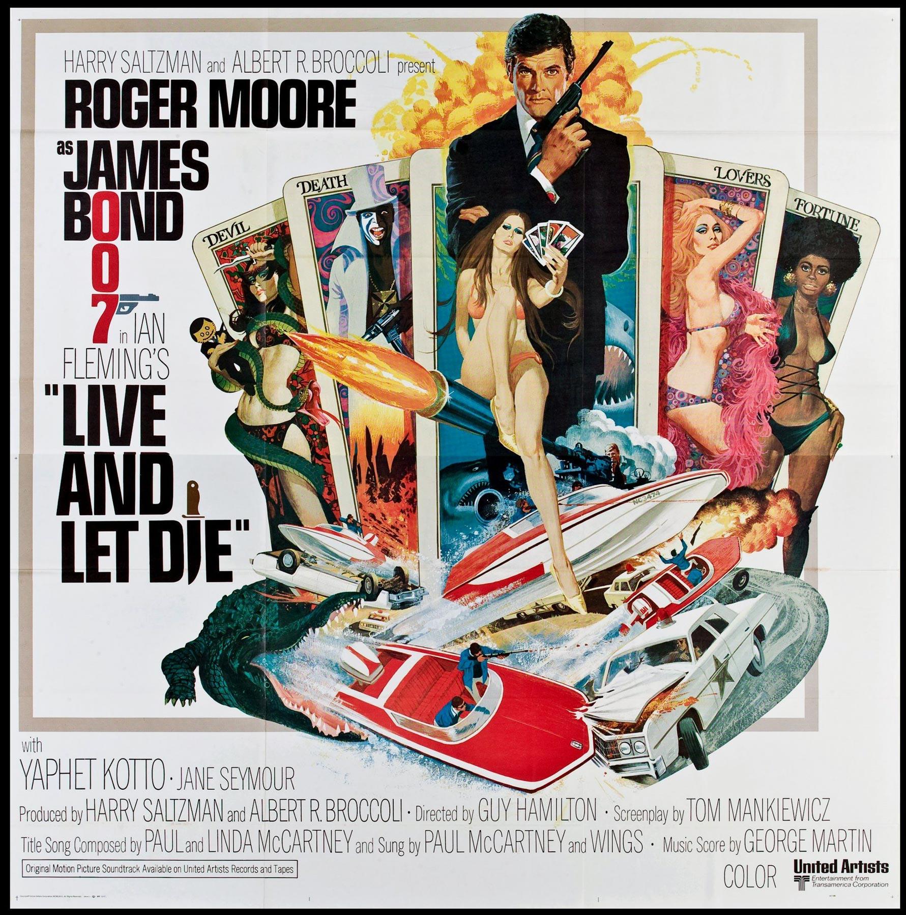 LIVE AND LET DIE Original Vintage US Six Sheet Film Poster ...