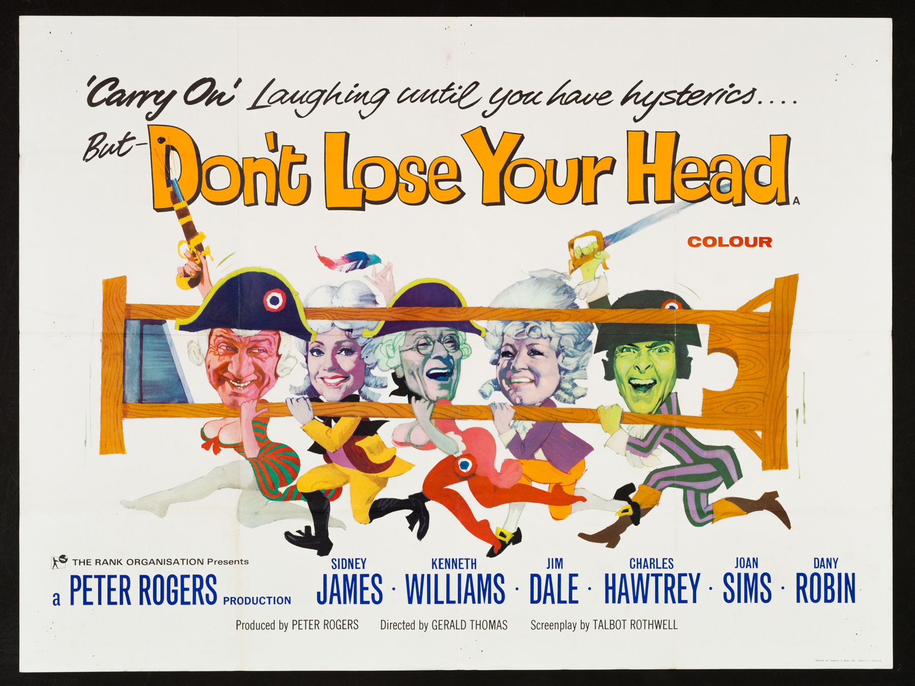 CARRY ON DON'T LOSE YOUR HEAD Original UK Quad poster | Picture ...