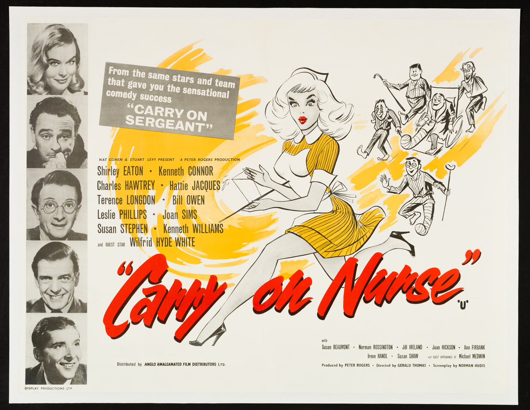 CARRY ON NURSE UK Quad poster   Picture Palace Movie Posters