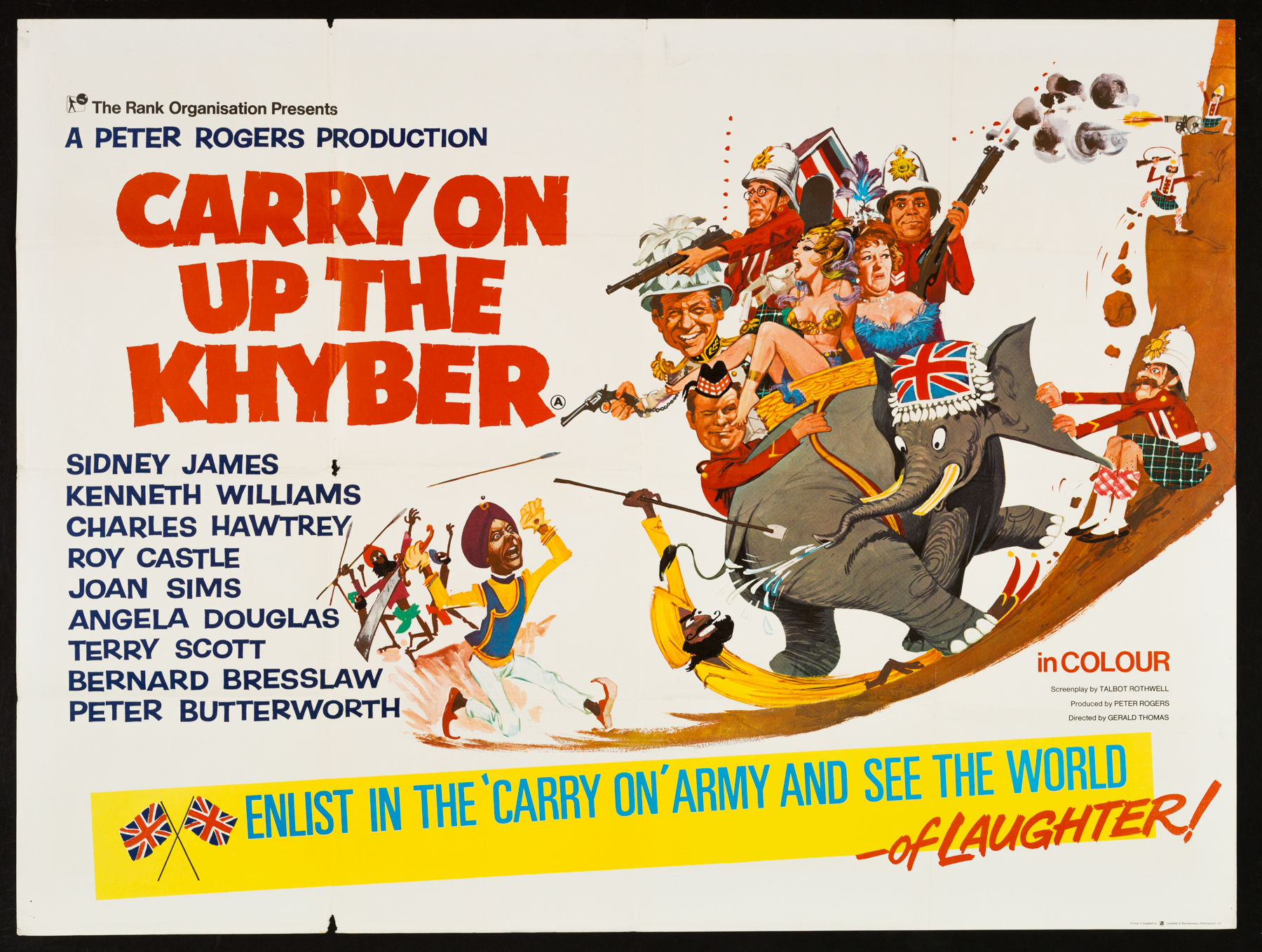 CARRY ON UP THE KHYBER Original UK Quad poster | Picture Palace ...