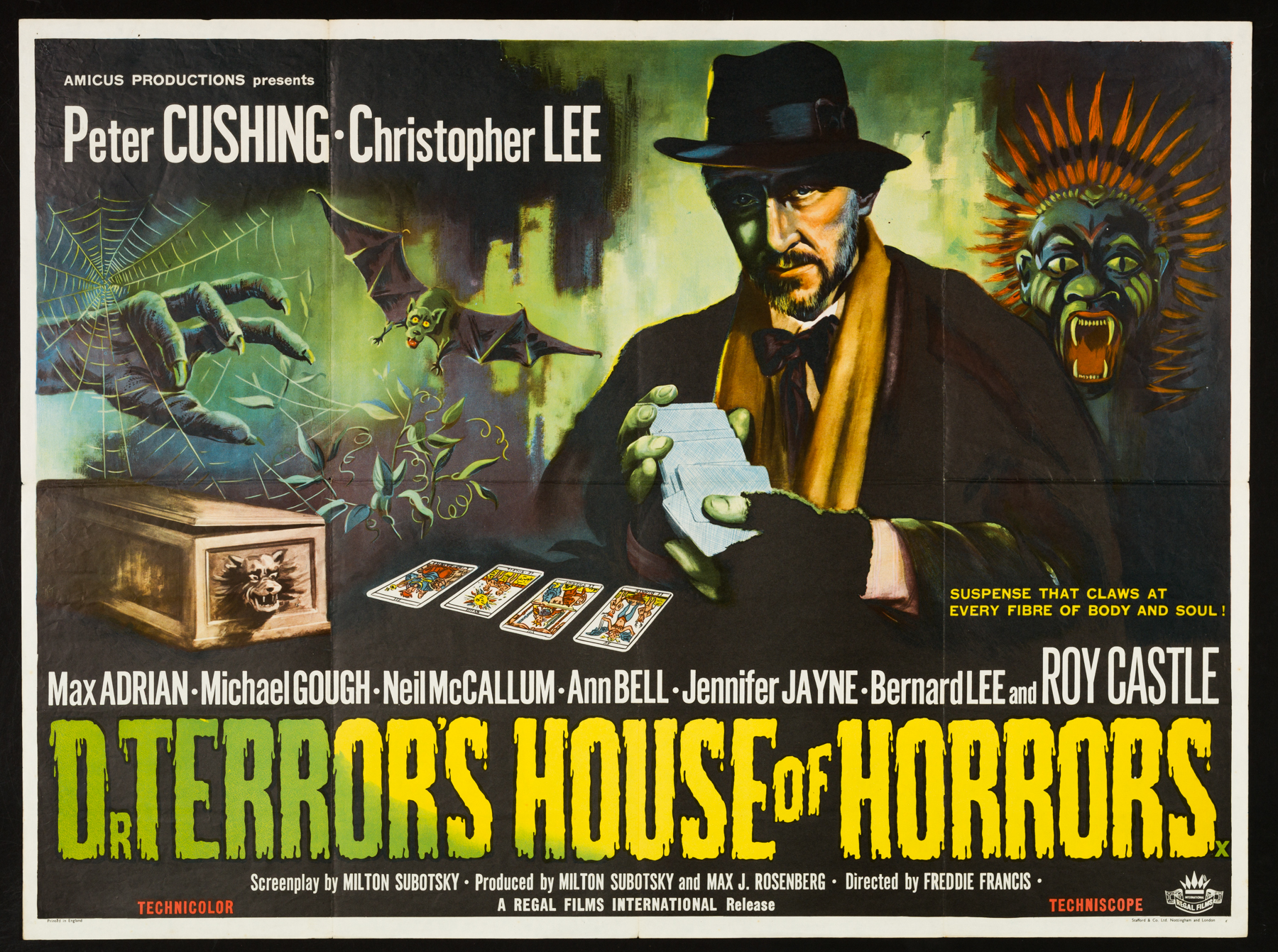 DR TERROR'S HOUSE OF HORRORS (1965) Original UK Quad Film Poster ...