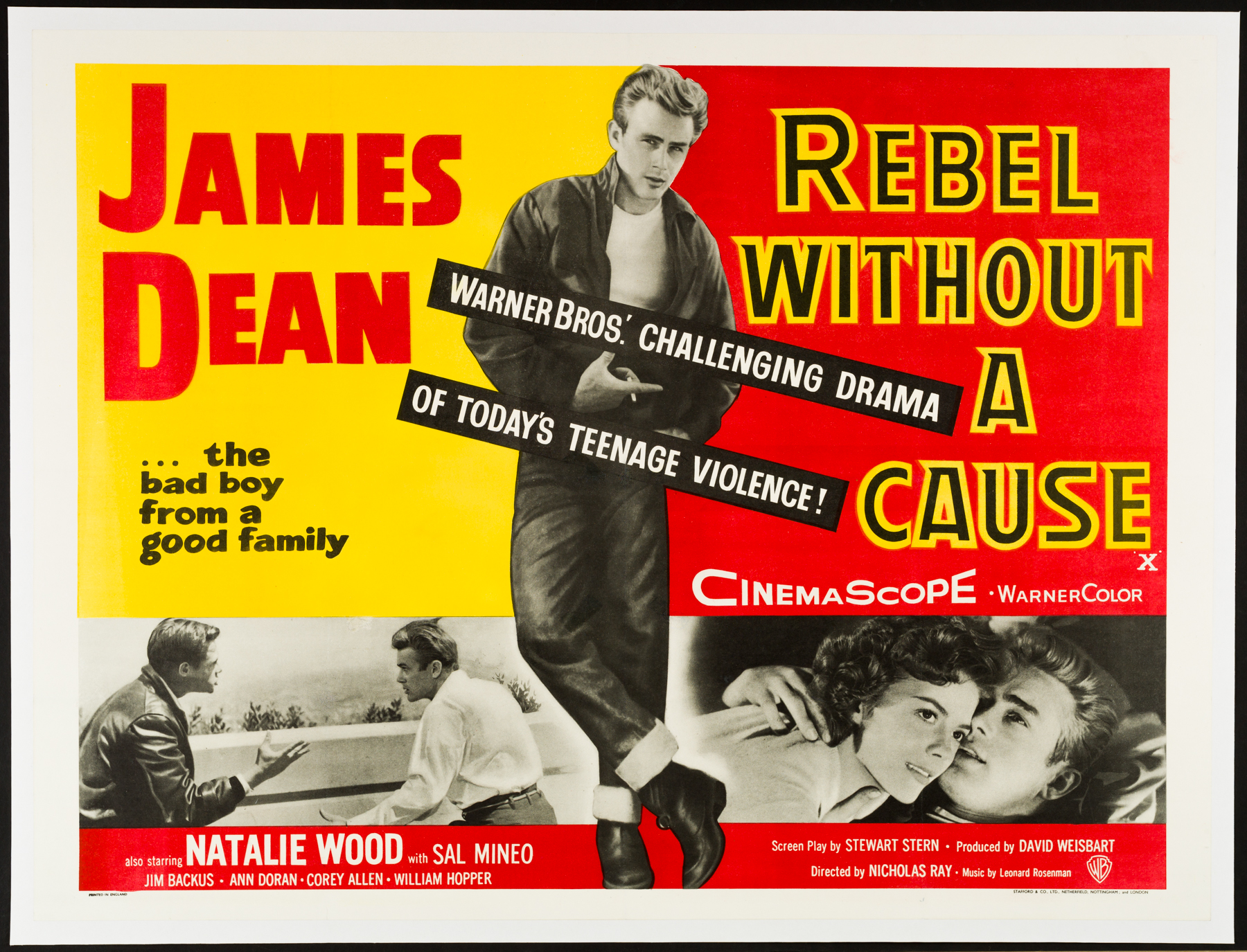 Image result for rebel without a cause poster""