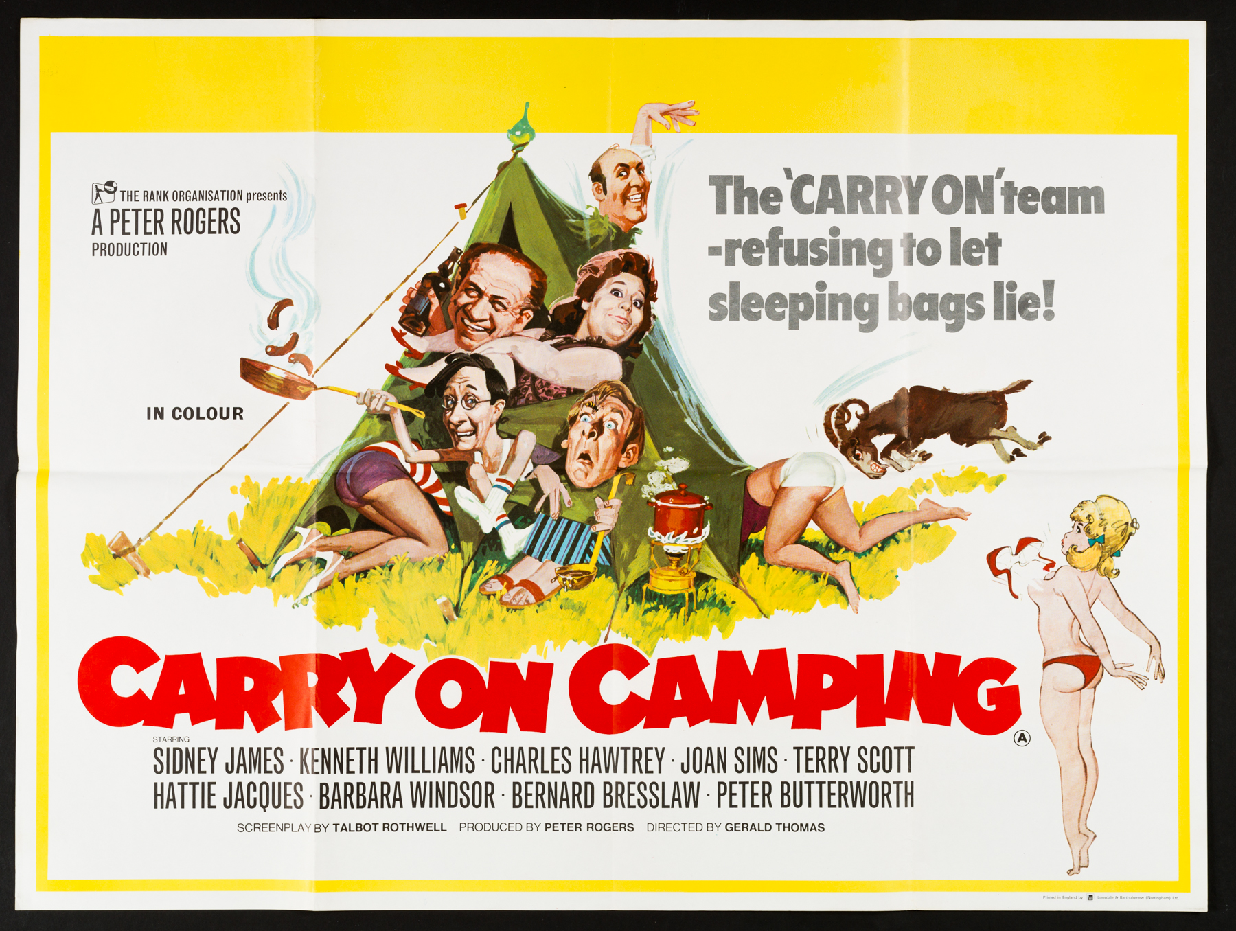 CARRY ON CAMPING (1969) Original Vintage UK Quad Poster | Picture ...