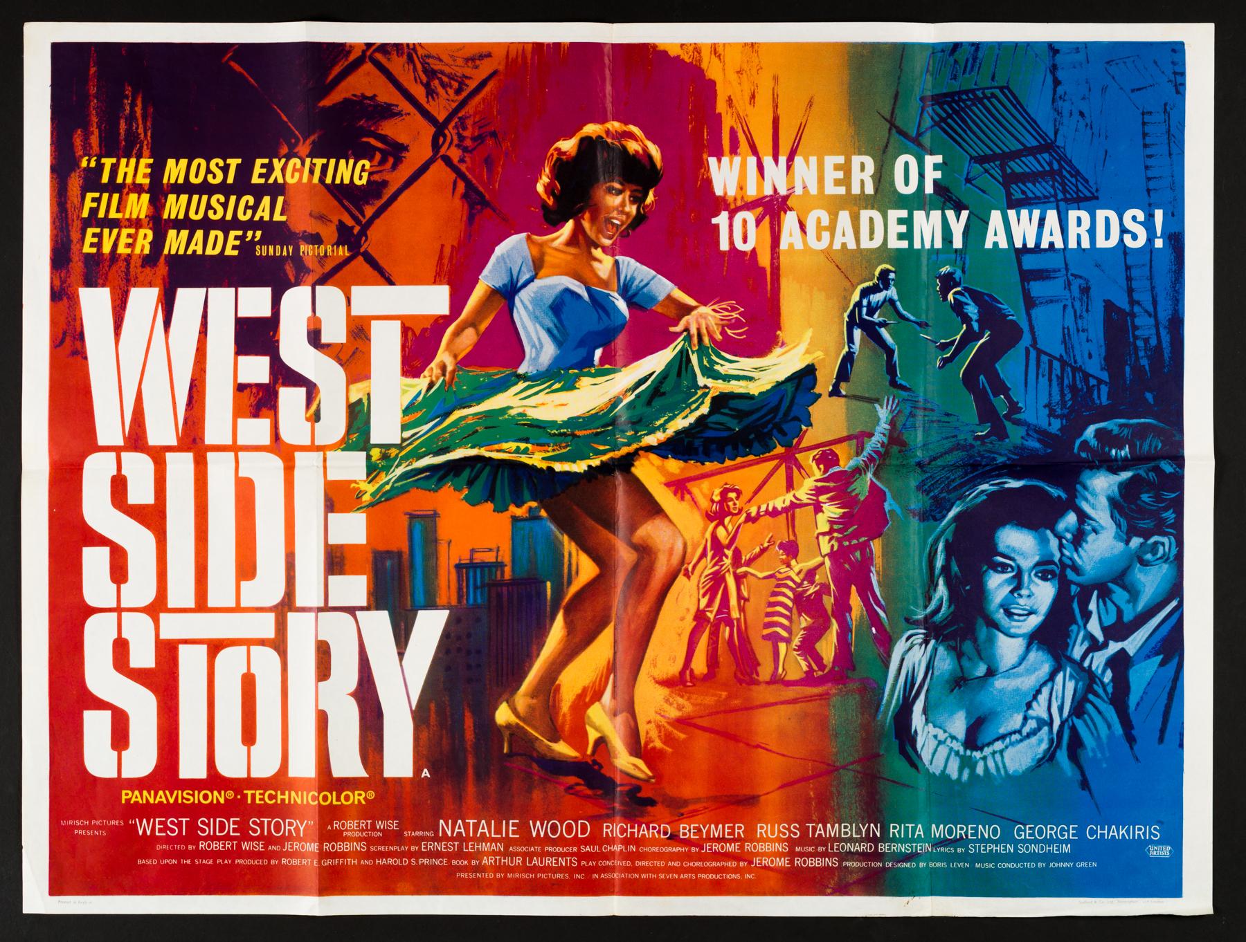 WEST SIDE STORY (1961) Original Vintage UK Quad Poster | Picture ...