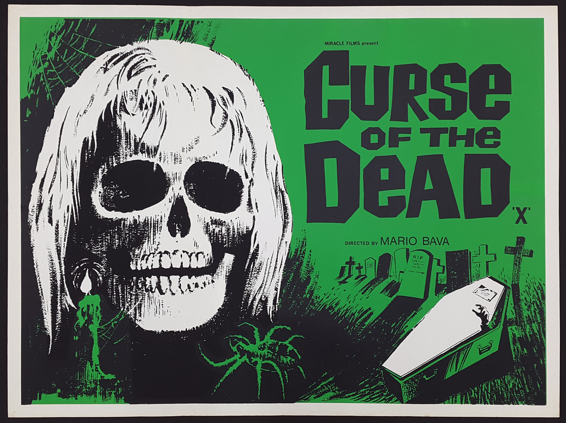 CURSE OF THE UNDEAD (1966) Original Vintage UK Quad Film