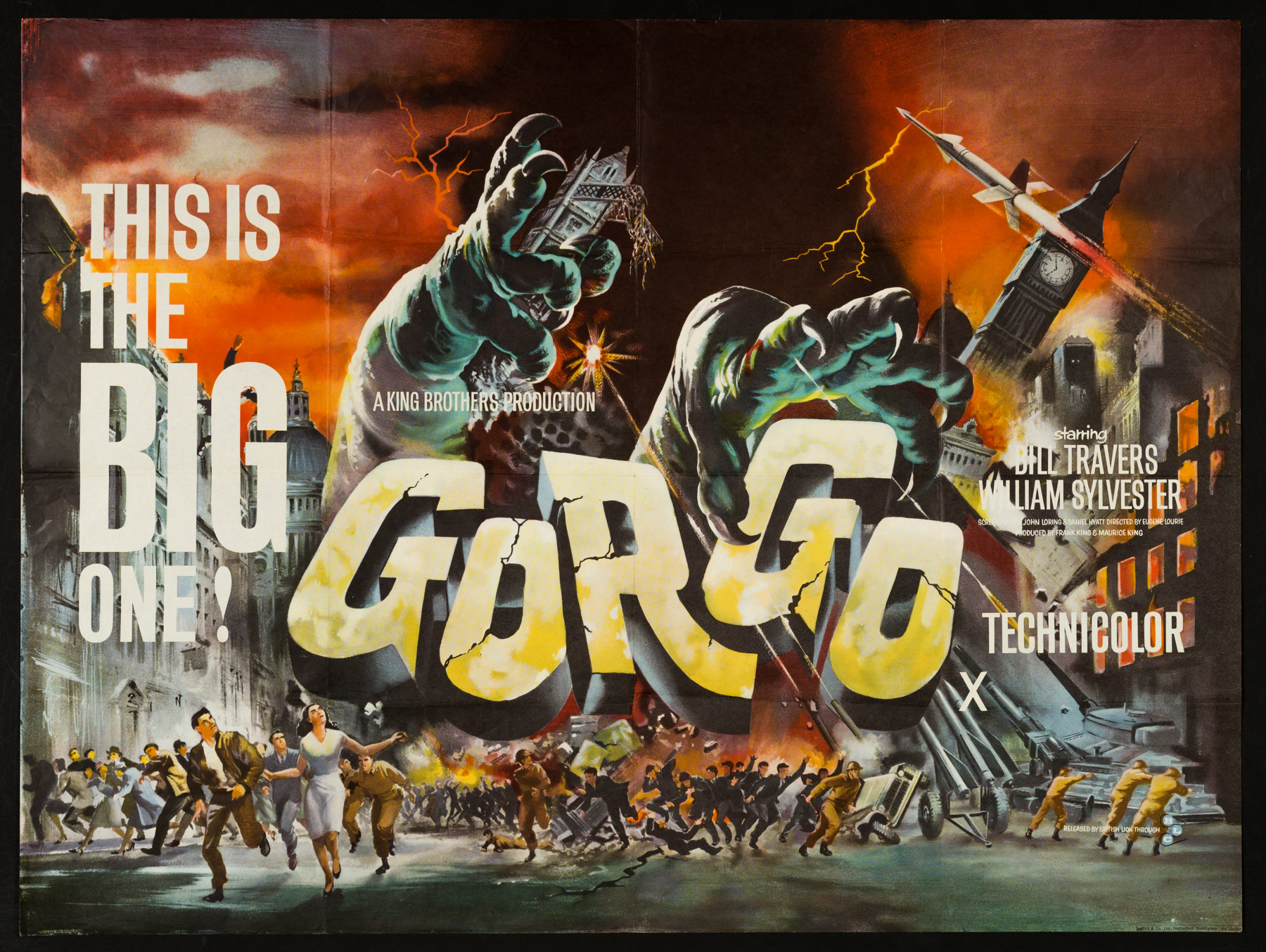 GORGO (1961) Original Vintage Uk Quad Film Poster ...