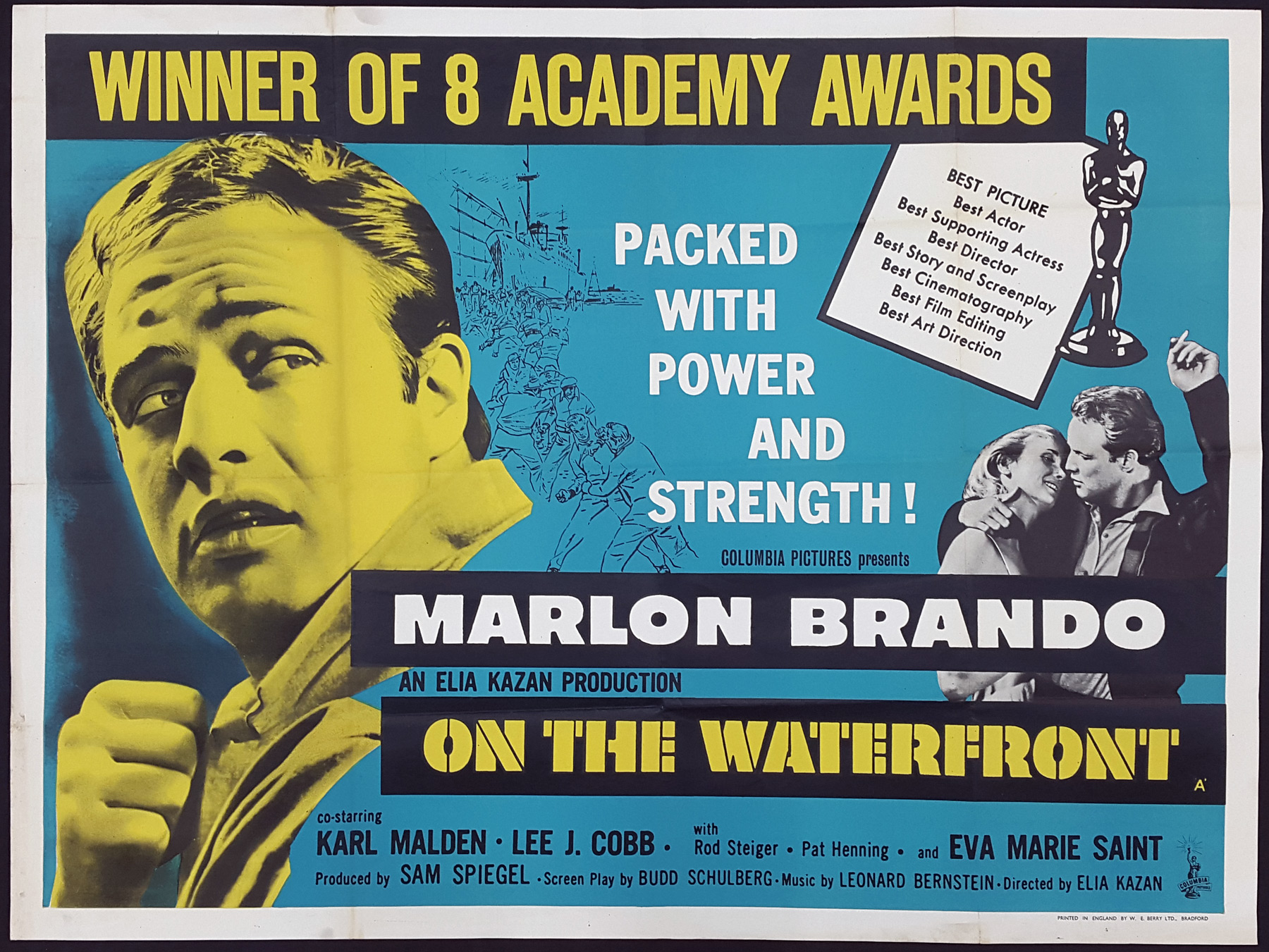 ON THE WATERFRONT (1954) Original Vintage UK Quad Film Poster ...
