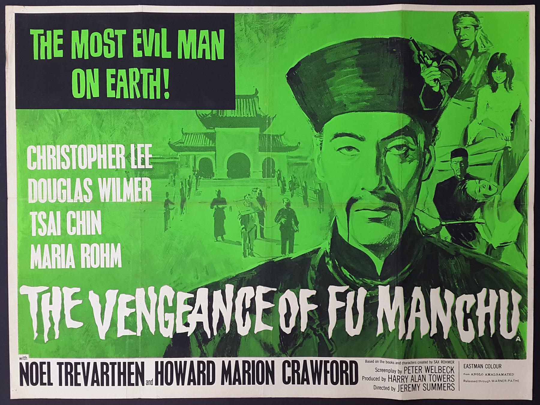 THE VENGEANCE OF FU MANCHU (1967) Original UK Quad Film Poster ...