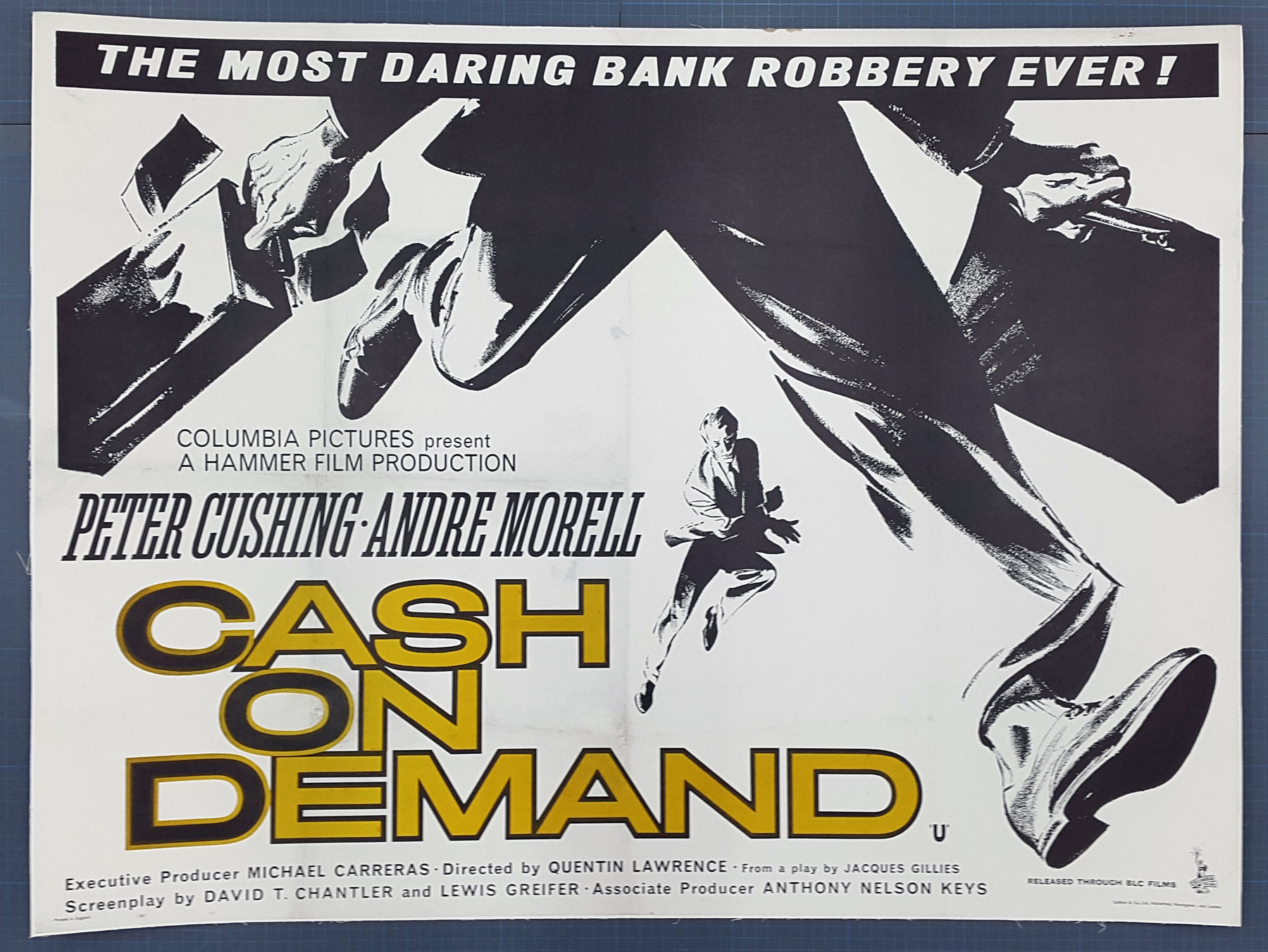 CASH ON DEMAND (1961) Original Hammer Horror UK Quad Film Poster ...
