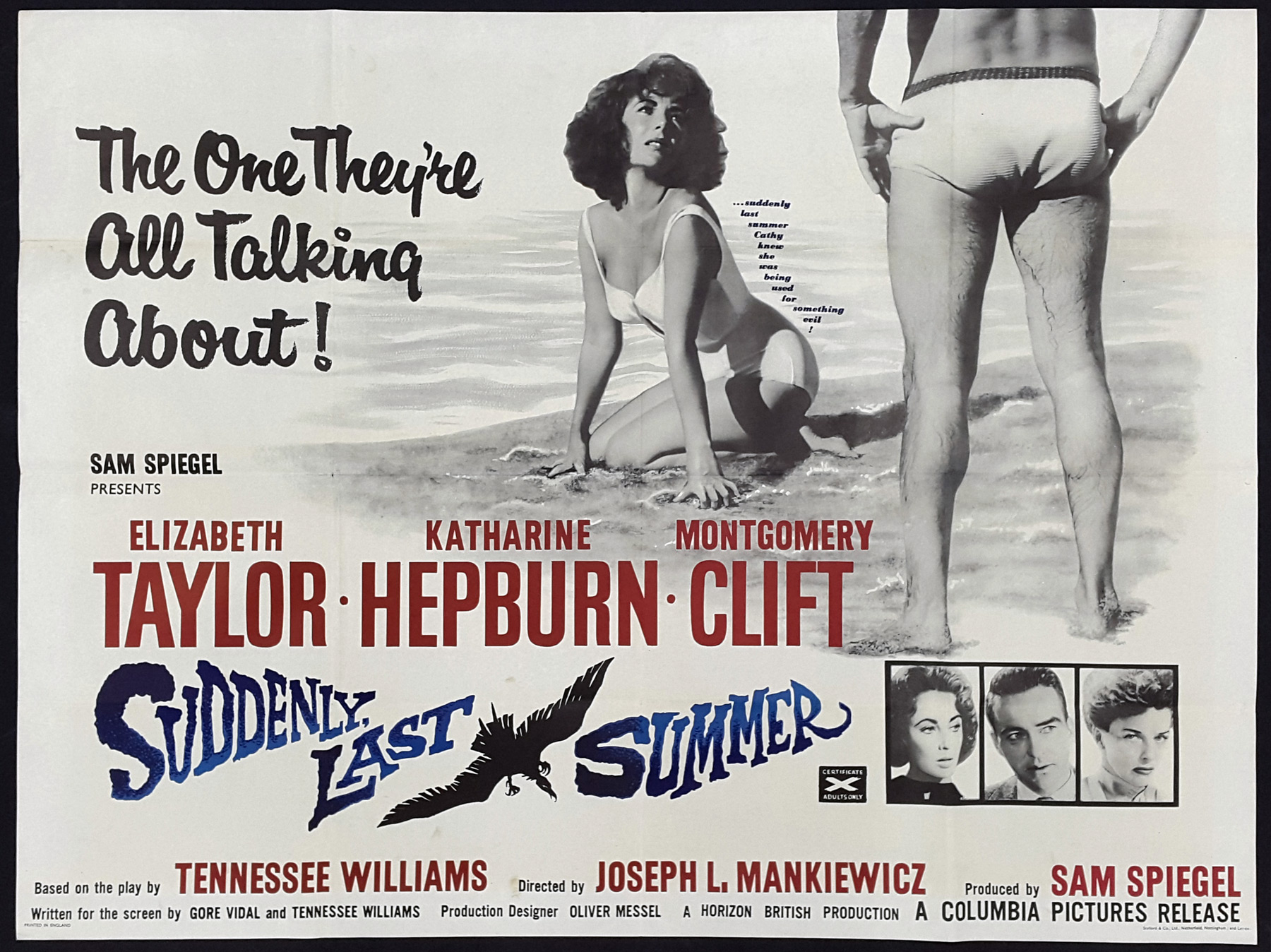 SUDDENLY LAST SUMMER (1959) Original Vintage UK Quad Film Poster ...