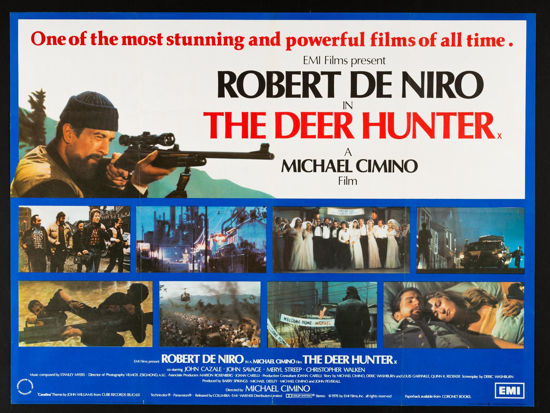 THE DEER HUNTER (1978) Original Vintage UK Quad Film Poster ...