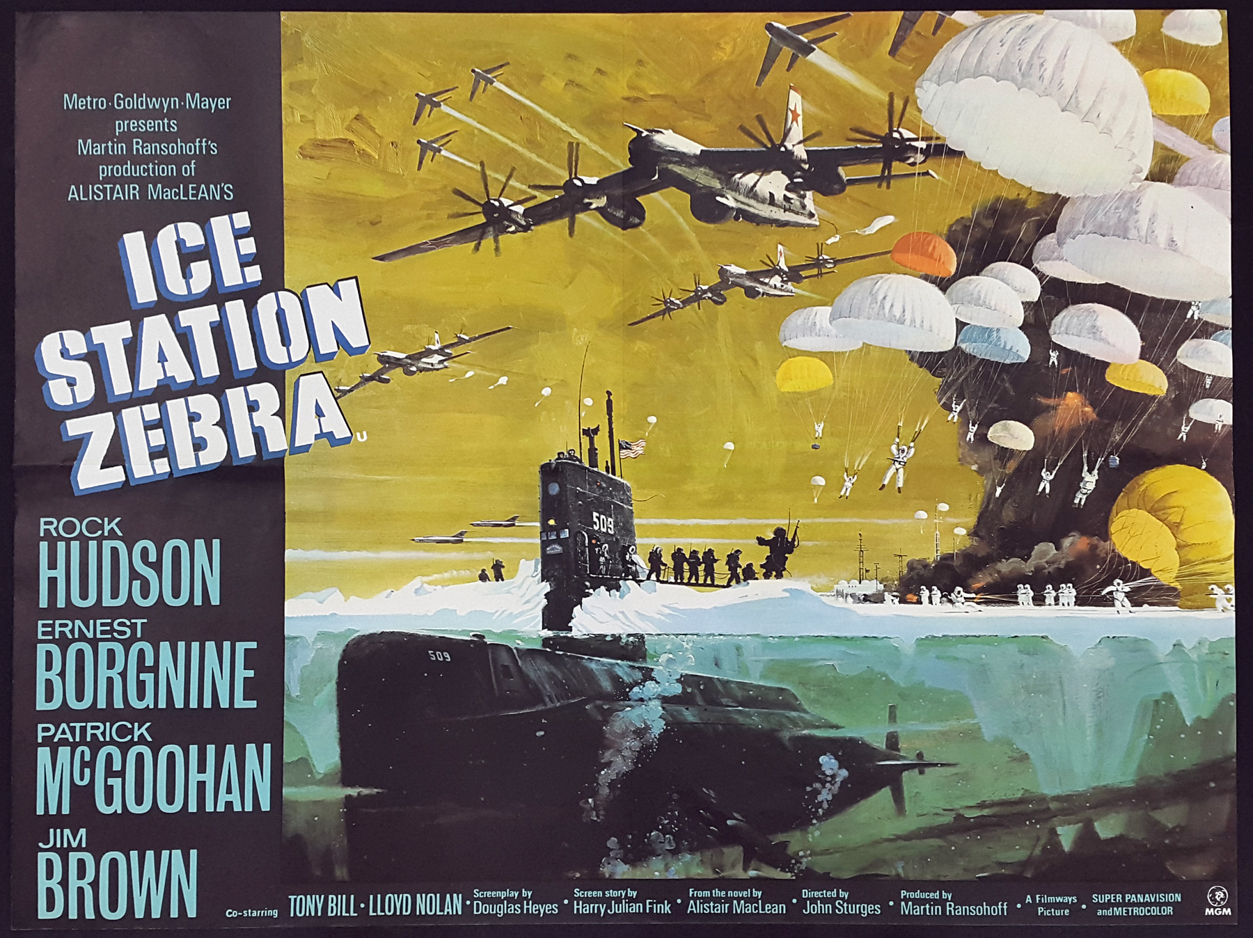 ICE STATION ZEBRA (1968) Original Vintage UK Quad Film Poster ...