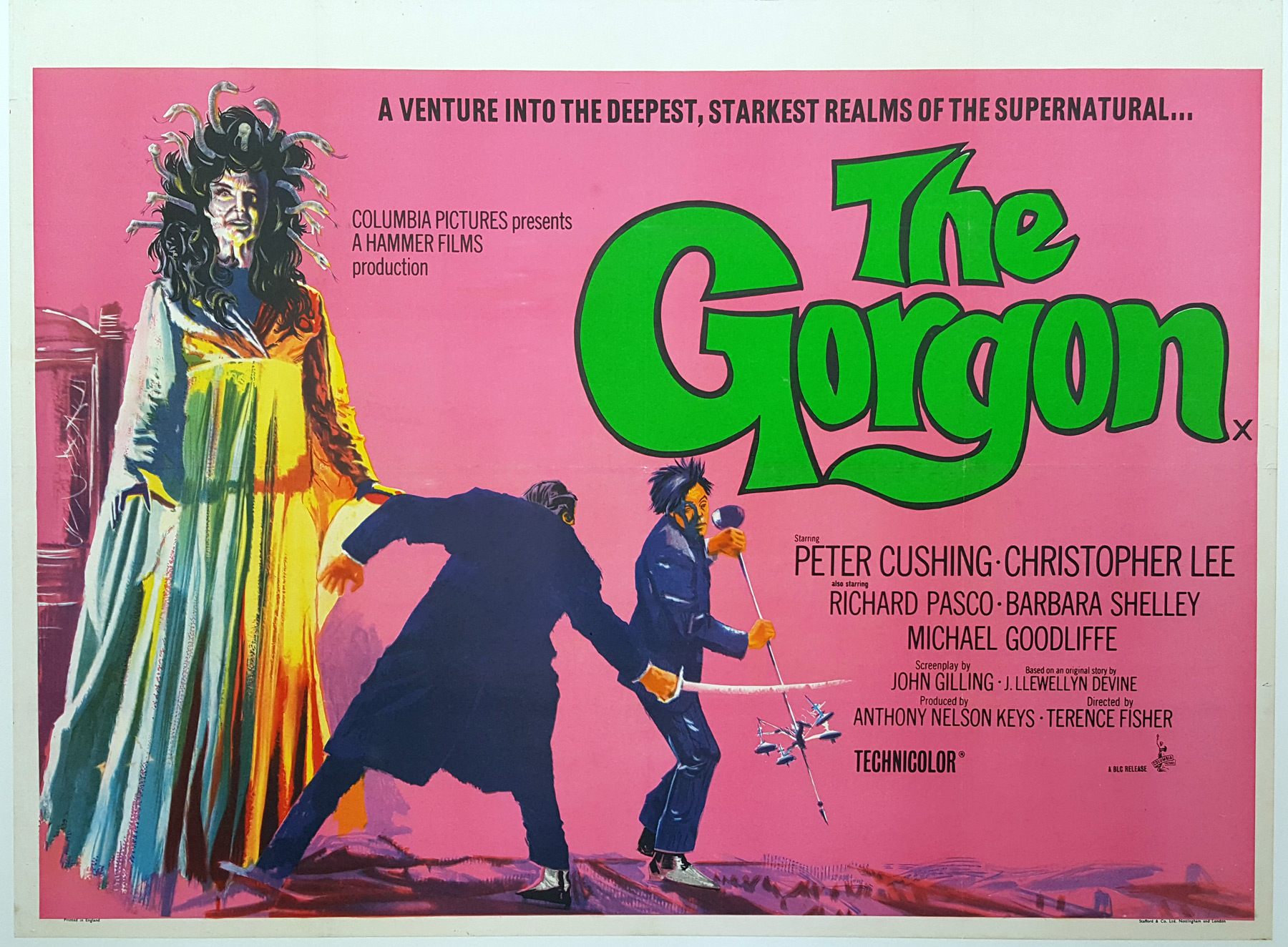 THE GORGON (1964) Original Vintage Hammer Horror UK Film Poster ...