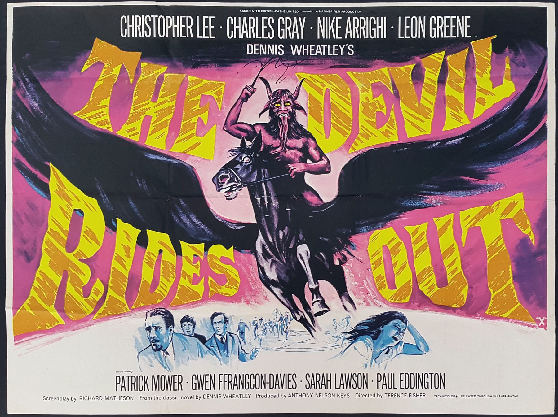 THE DEVIL RIDES OUT (1968) Hammer Horror Classic UK Quad Film ...
