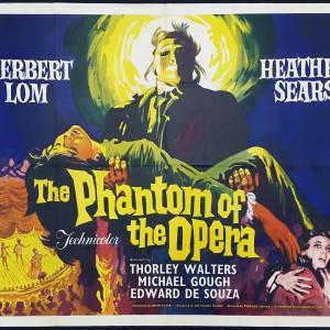 Phantom of the Opera Vintage Italian Movie Poster