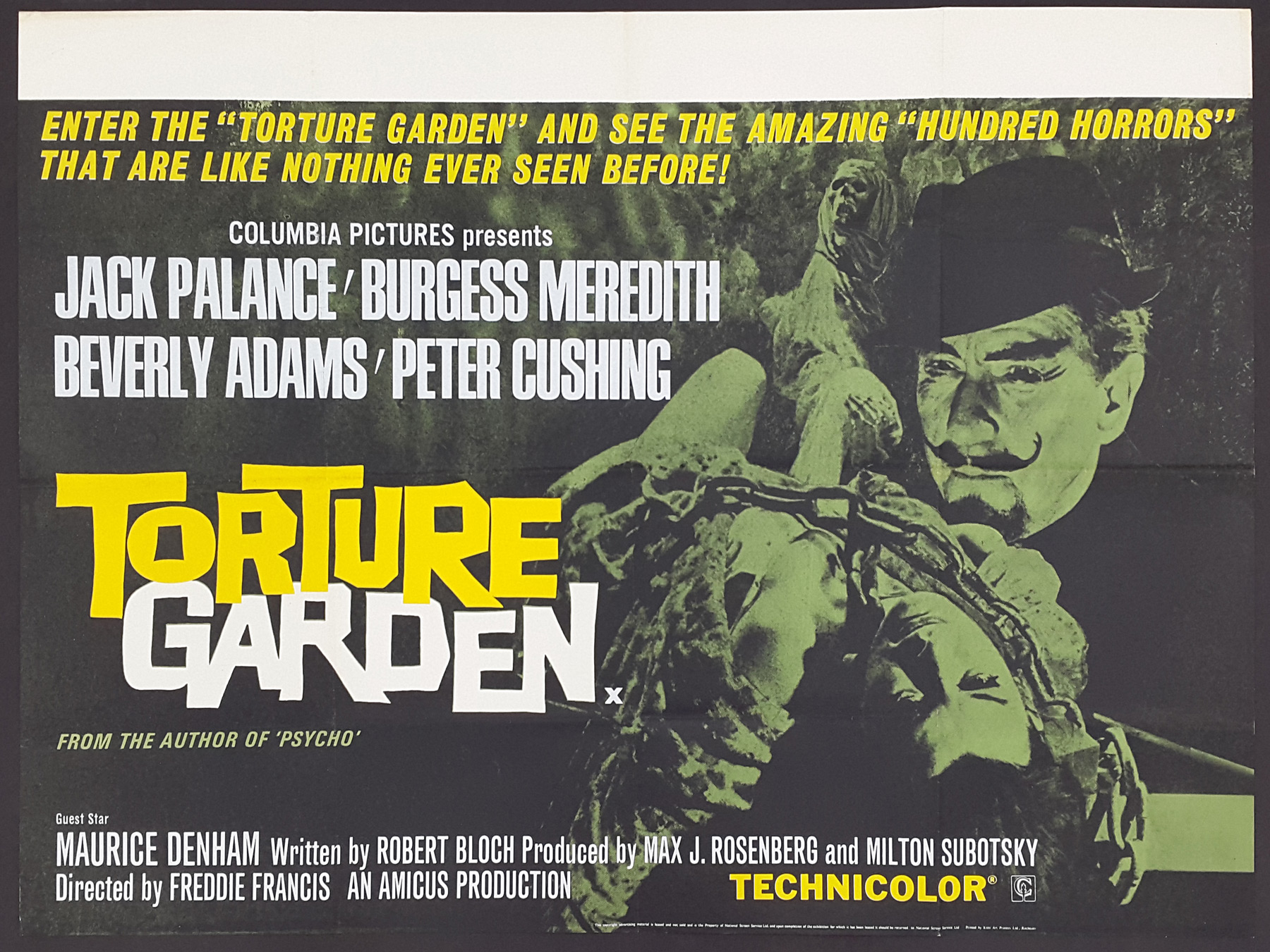 TORTURE GARDEN (1967) Original Vintage Amicus UK Quad Film Movie ...