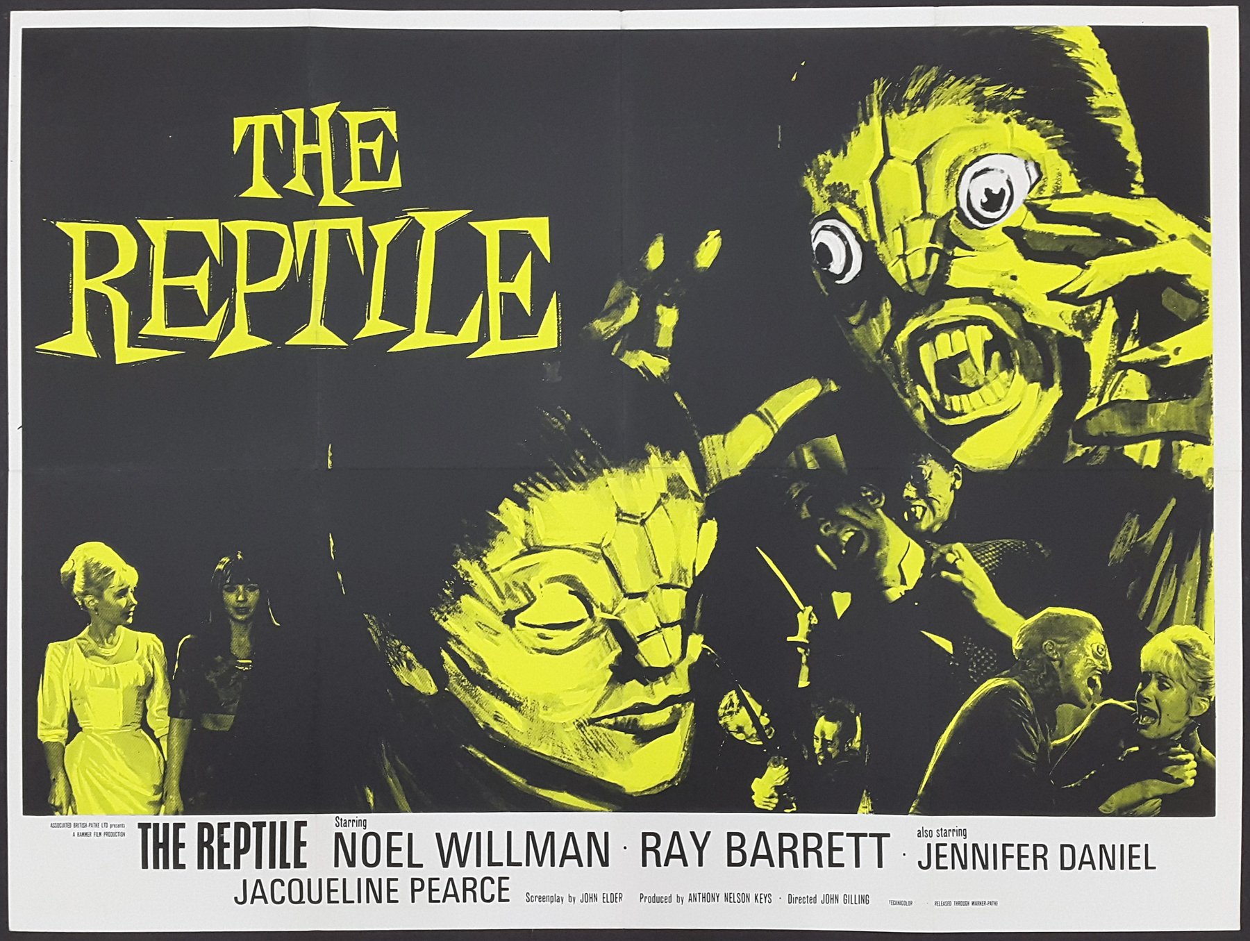 THE REPTILE (1966) Original Hammer Horror Vintage Uk Quad Film ...
