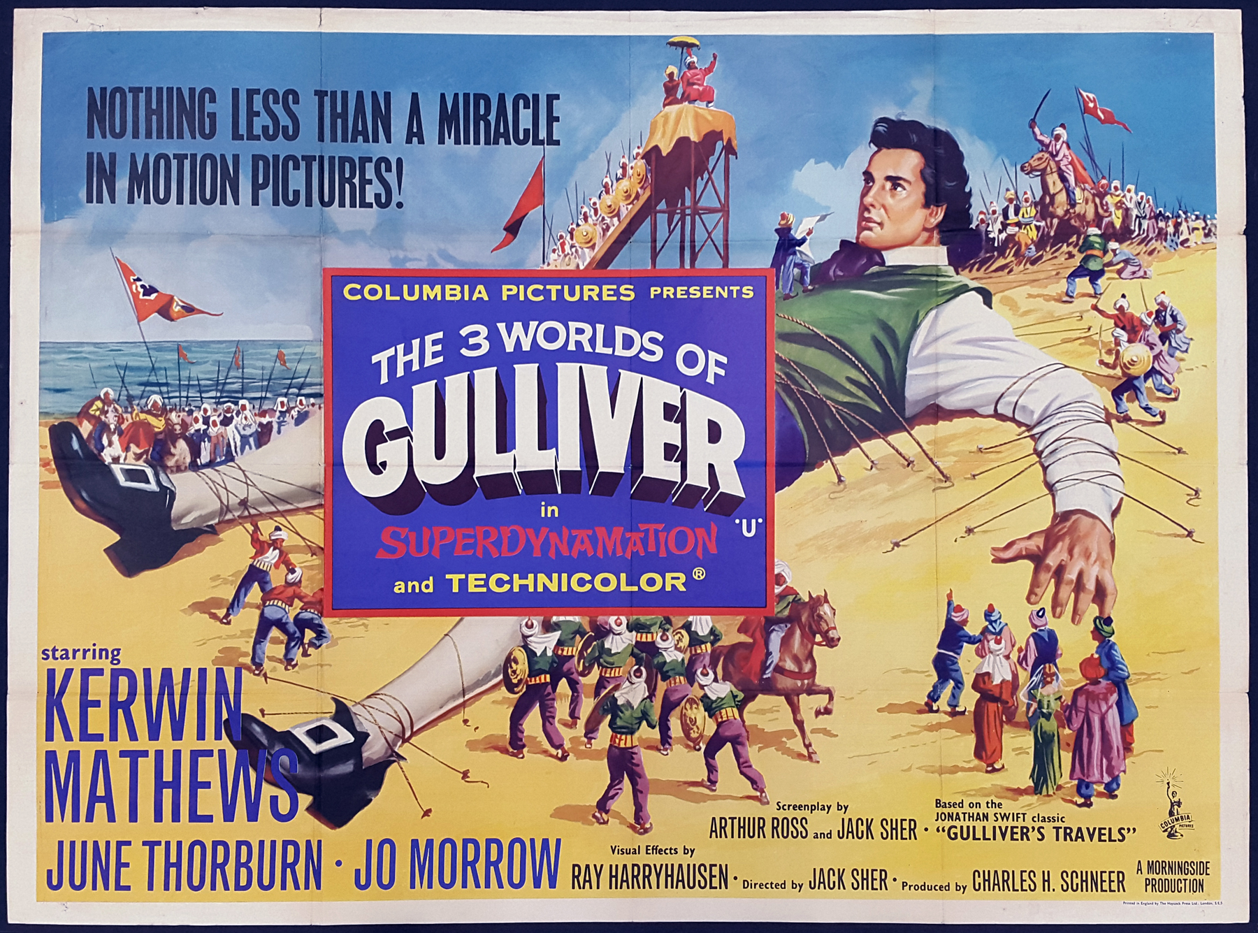 THE 3 WORLDS OF GULLIVER (1960) Original Vintage Ray Harryhausen ...
