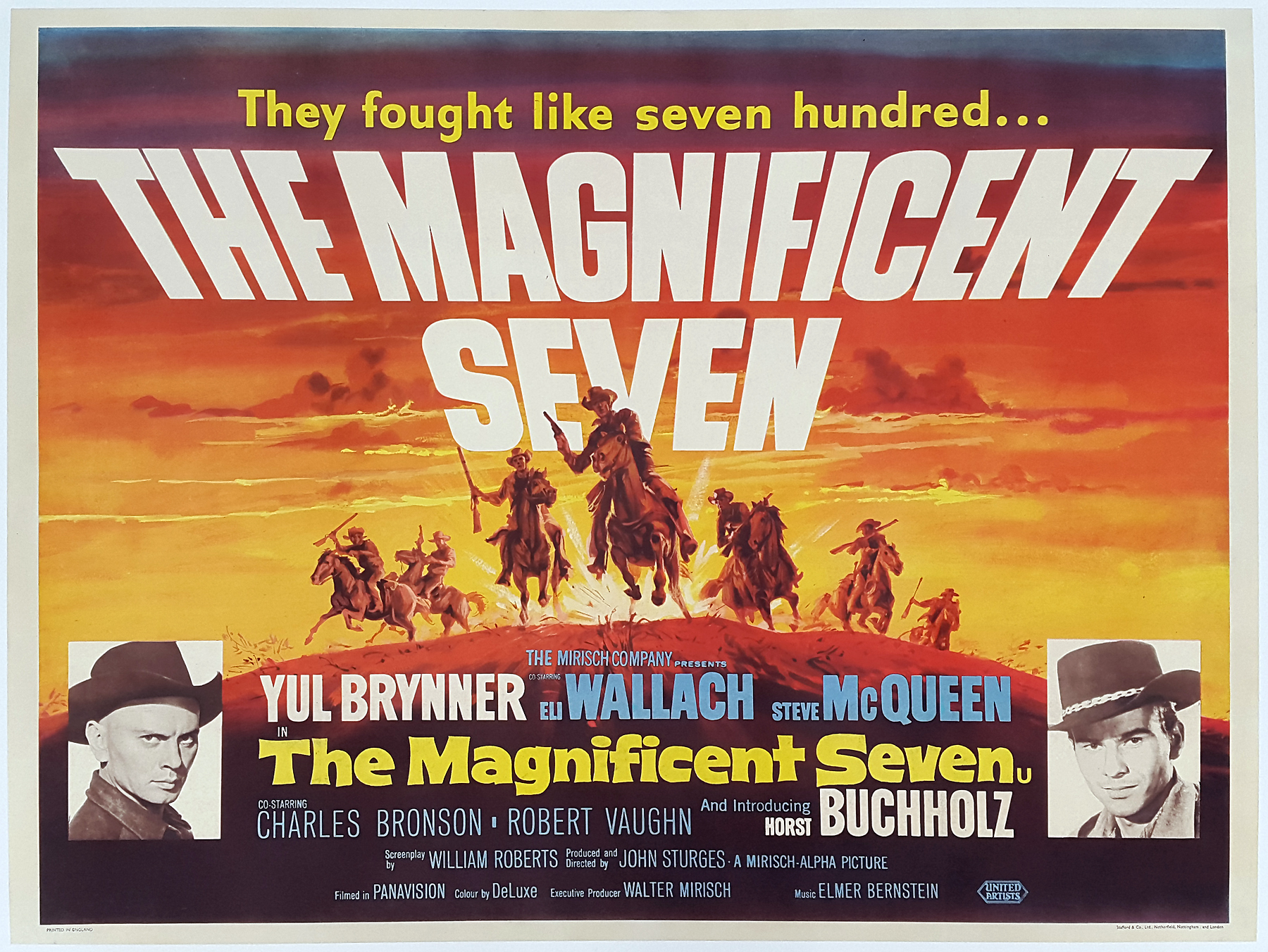THE MAGNIFICENT SEVEN (1960) Original Very Rare Vintage First ...