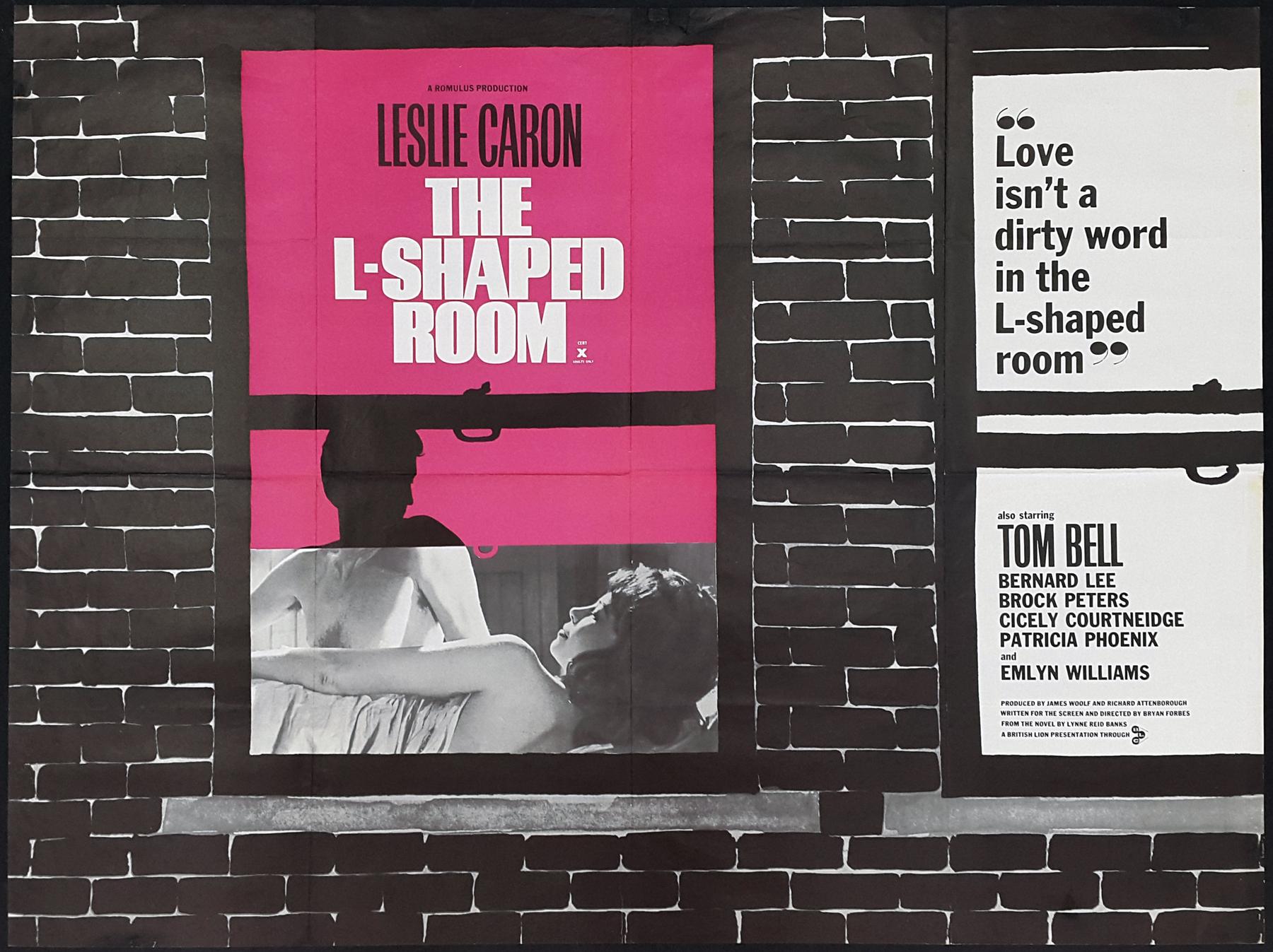 THE L-SHAPED ROOM (1962) Original Vintage New Wave UK Quad Film ...
