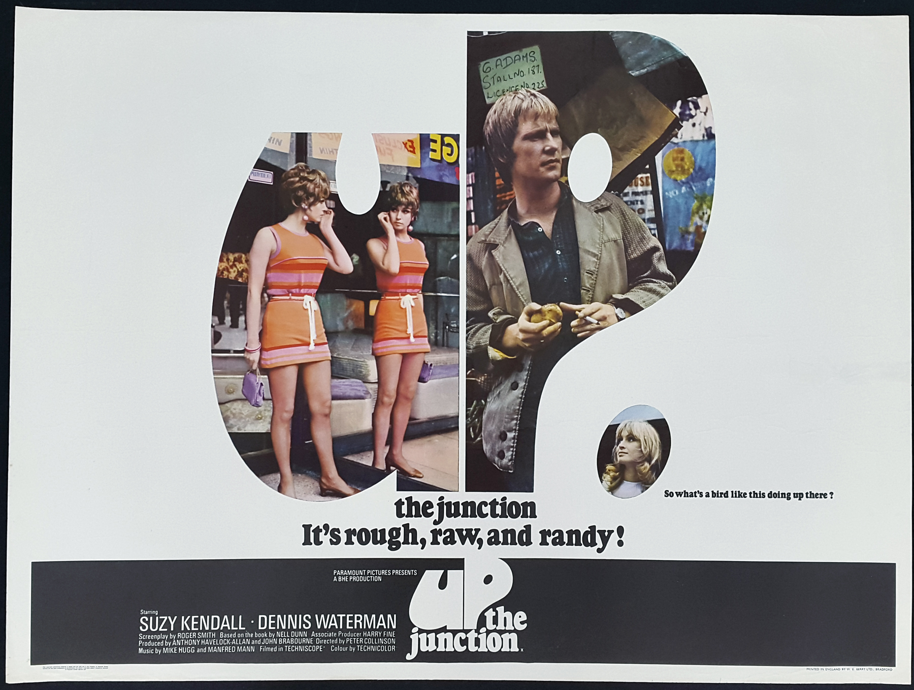 UP THE JUNCTION (1968) Original Vintage Kitchen Sibnk UK QWuad ...