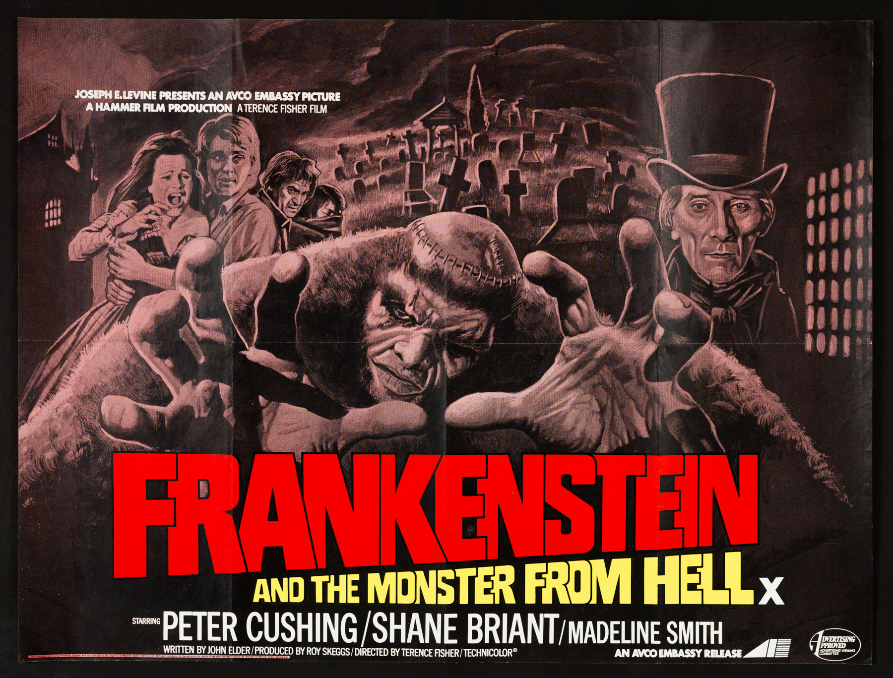 FRANKENSTEIN AND THE MONSTER FROM HELL (1974) Original Vintage ...
