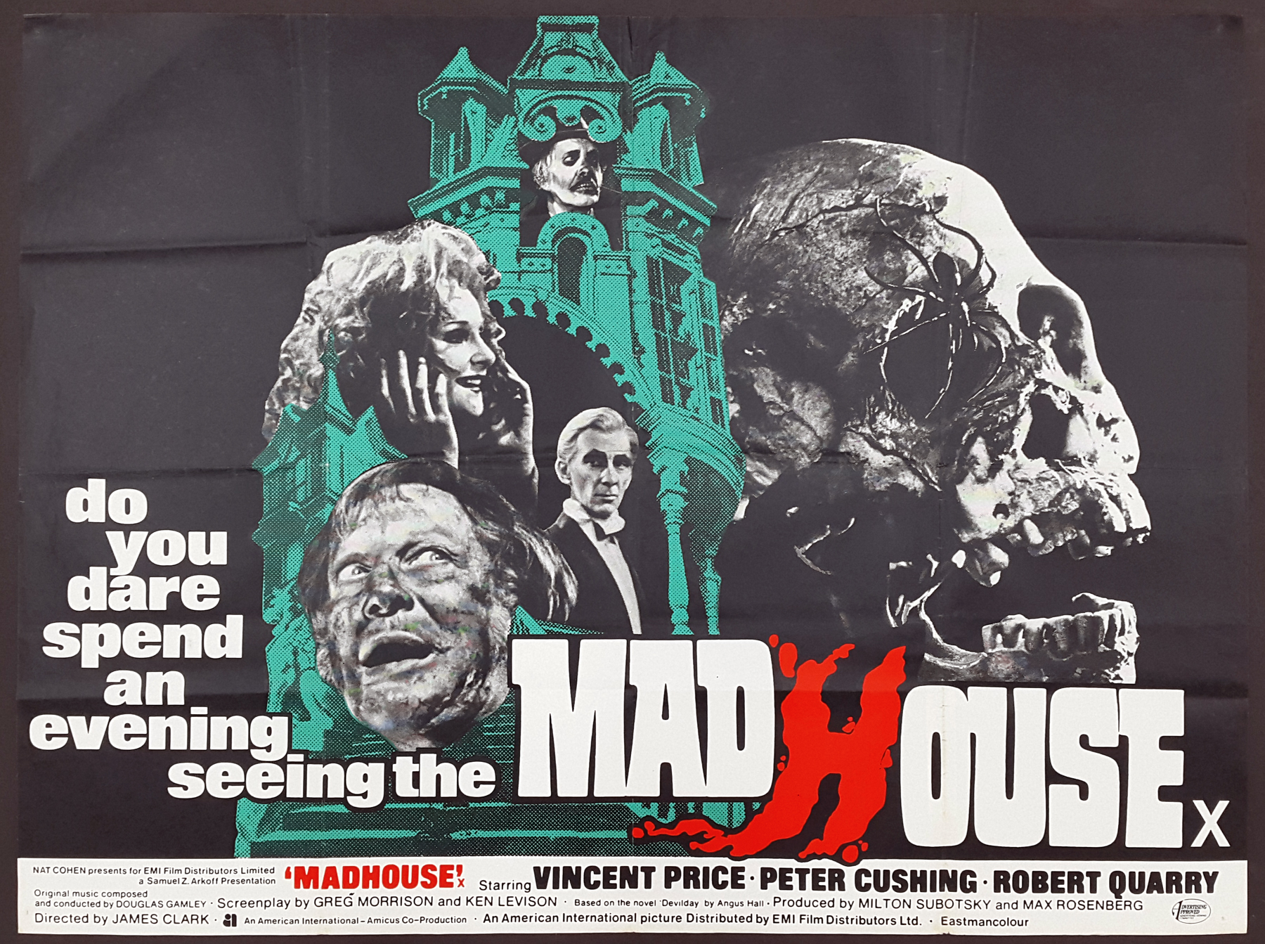 Movie Poster Madhouse 1974