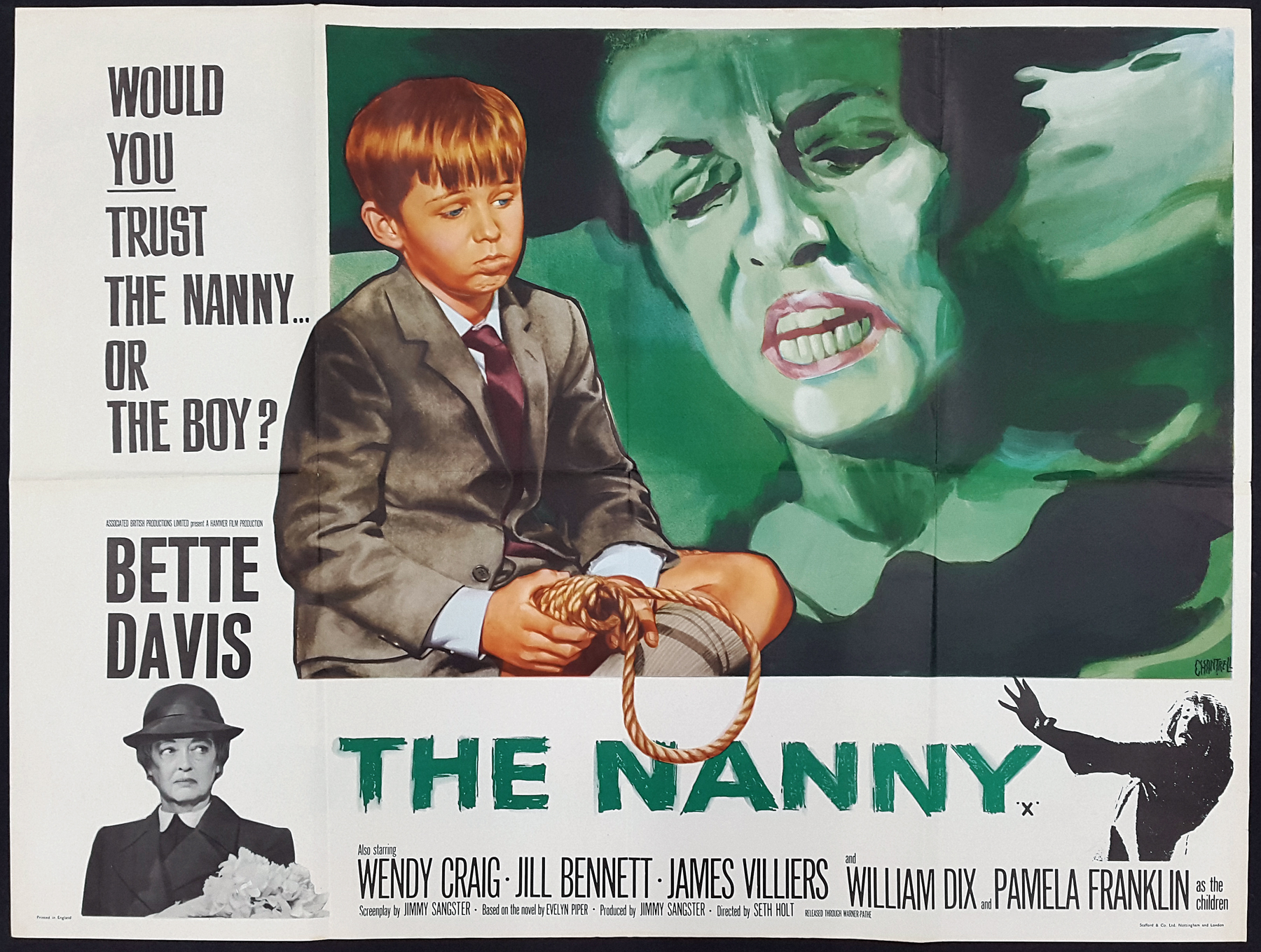 THE NANNY (1965) Original Vintage Bette Davis Hammer Horror Film ...