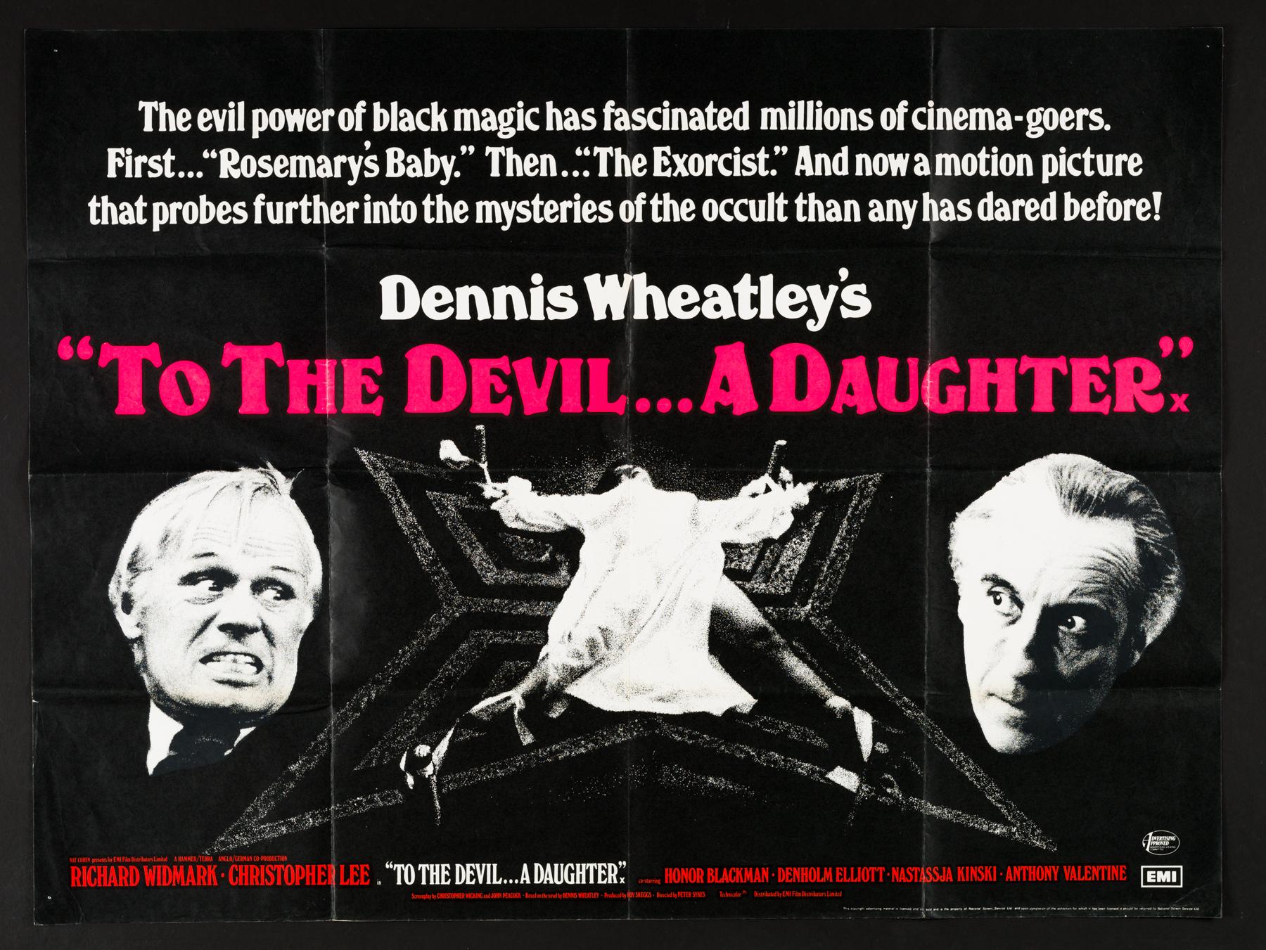 TO THE DEVIL A DAUGHTER (1976) Original Vintage UK Quad Hammer ...