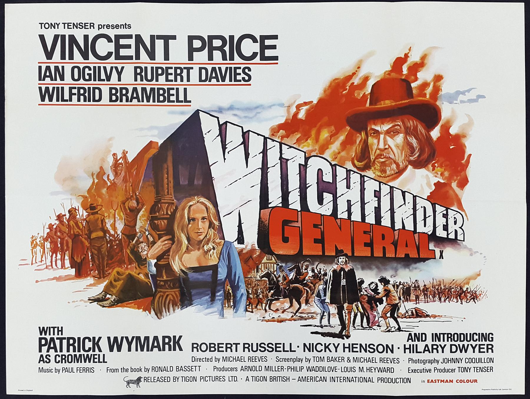 WITCHFINDER GENERAL (1968) Original Vintage UK Quad Movie Film ...