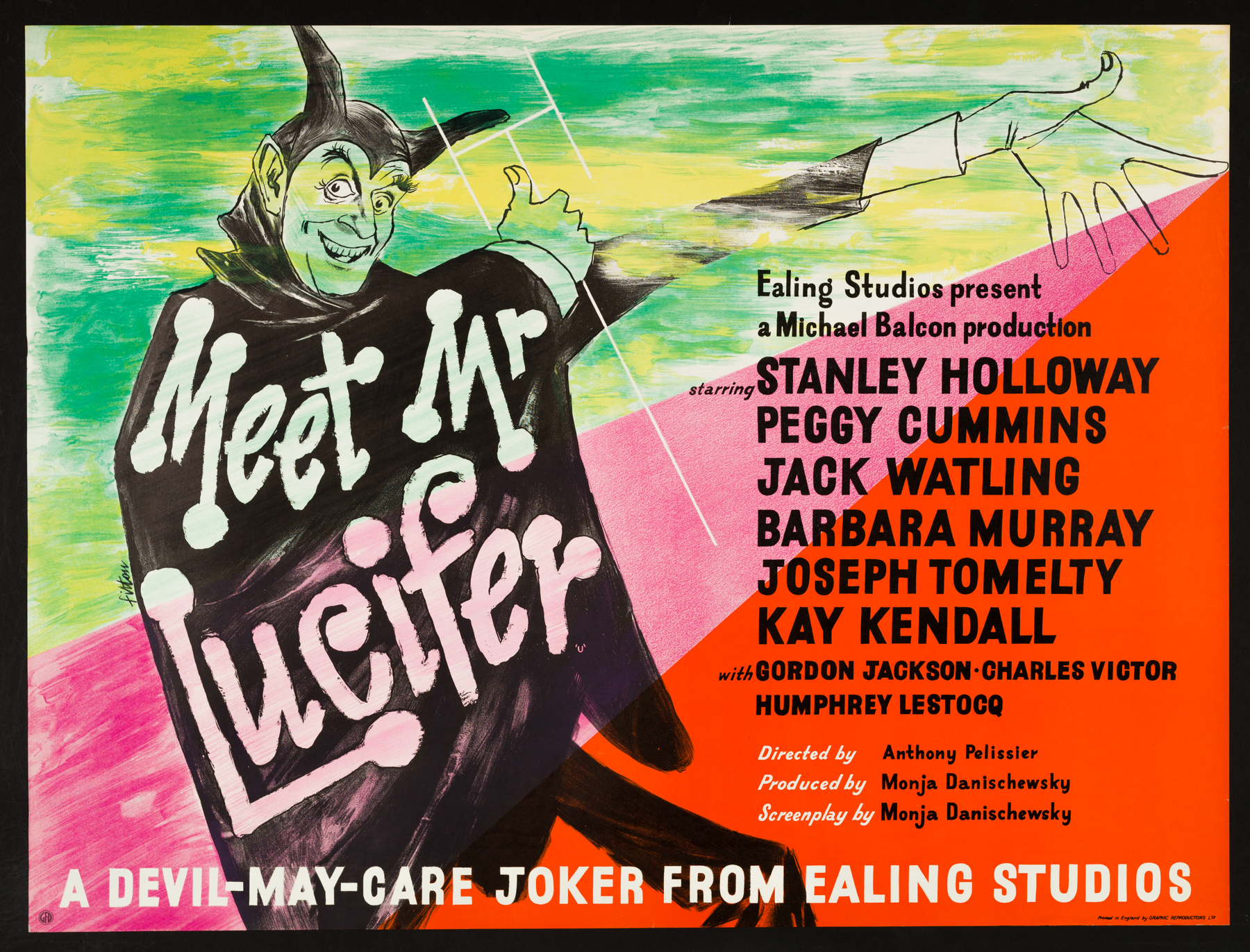 MEET MR LUCIFER (1953) Classic ealing Comedy Original UK Quad Film ...