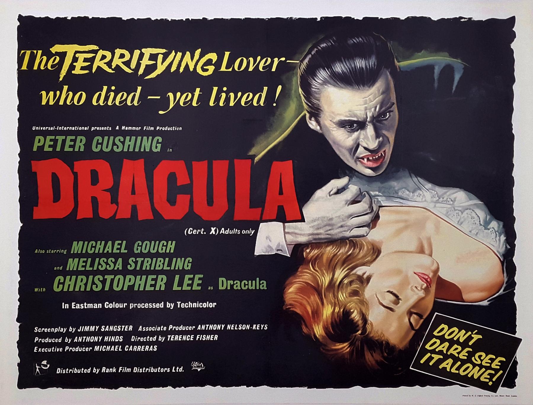 DRACULA (1958) Original Vintage Hammer Horror Style A Bill Wiggins ...
